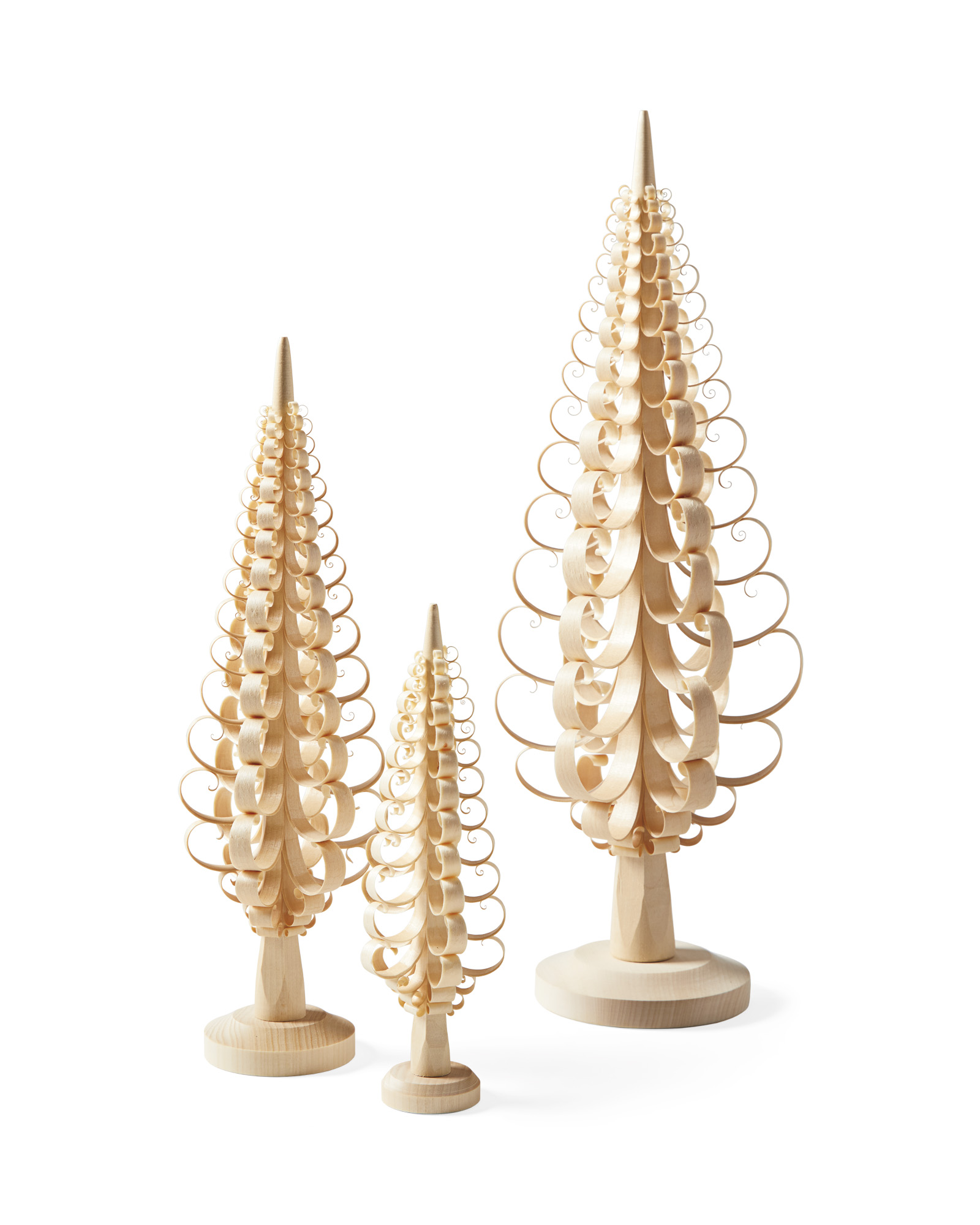Curly Trees (Set of 3),