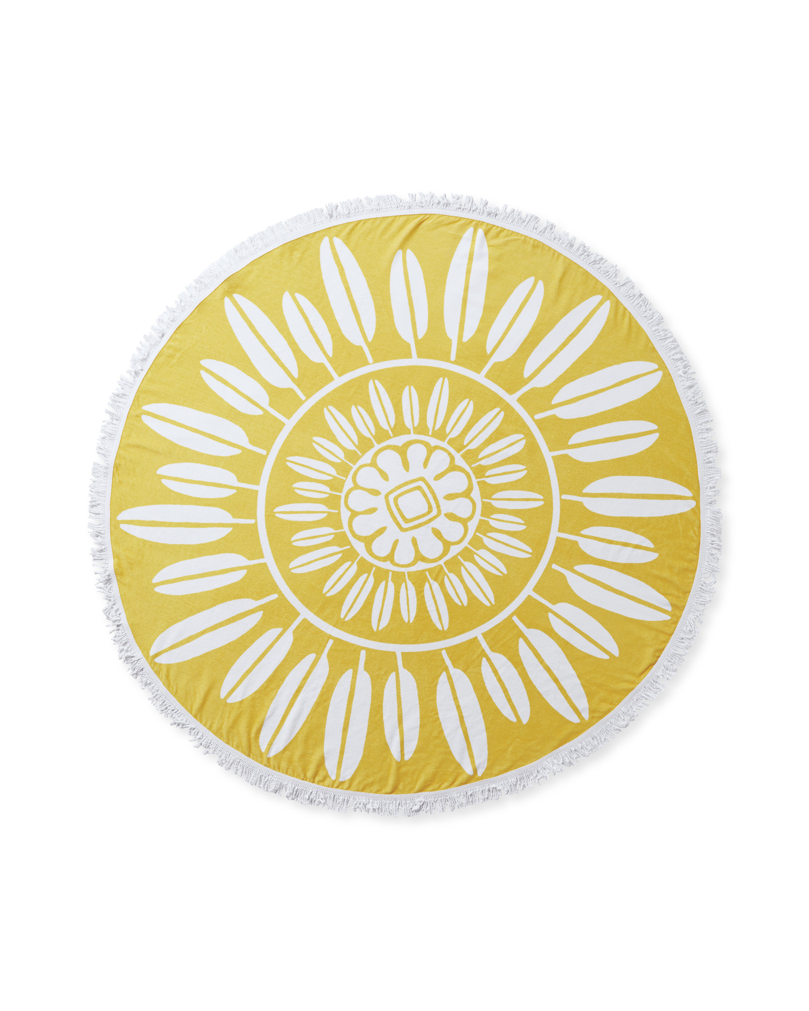 Campania Round Beach Towel, Canary