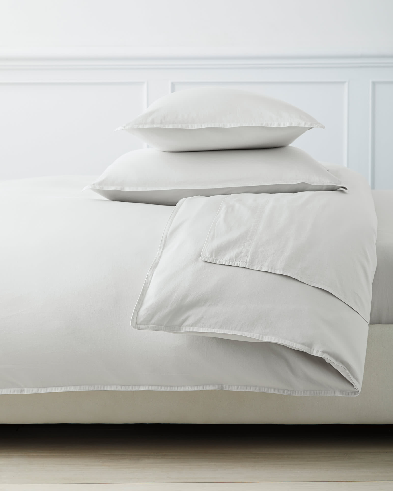 Sorrento Sateen Duvet Cover, Fog