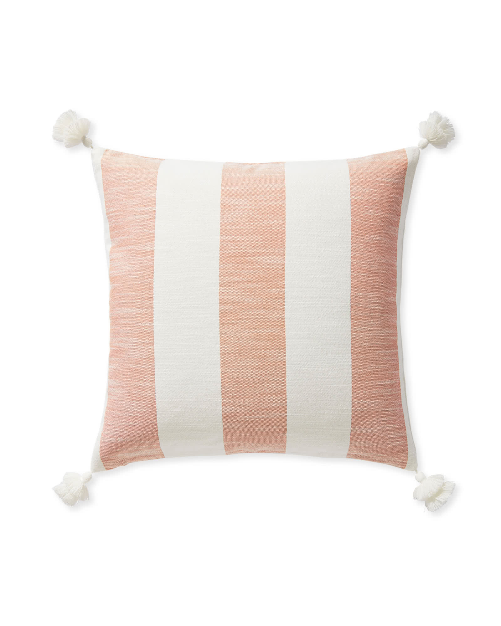 Beach Stripe Pillow Cover - Orange,