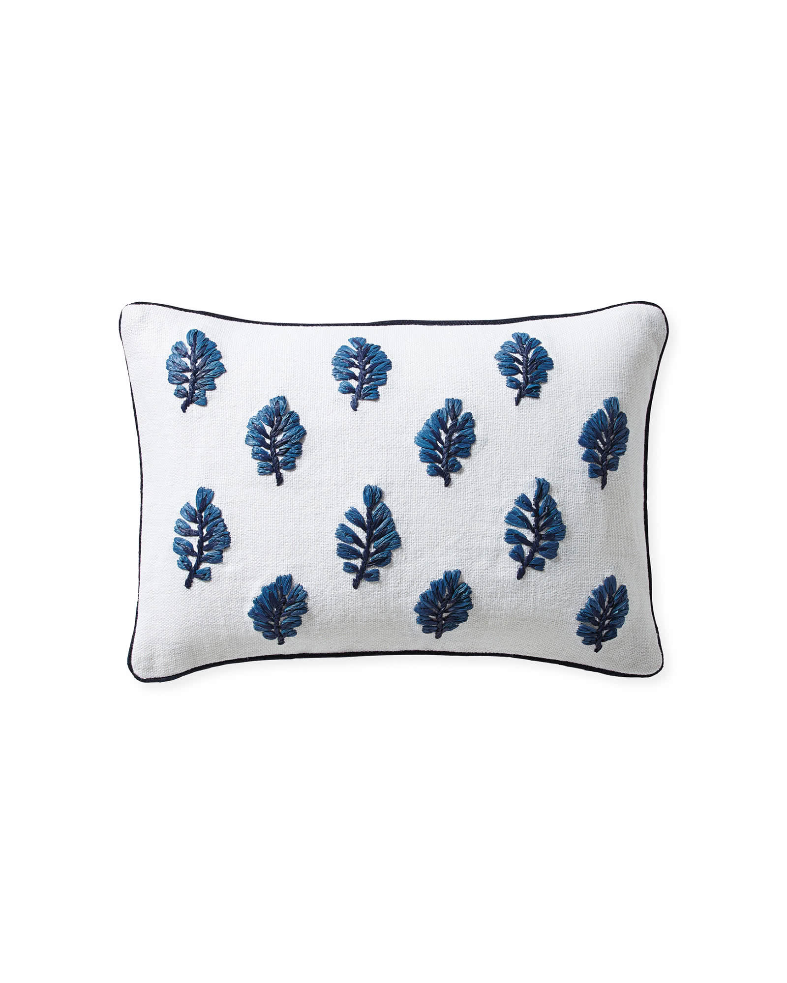 Blossom Pillow Cover - blue and white coastal decor