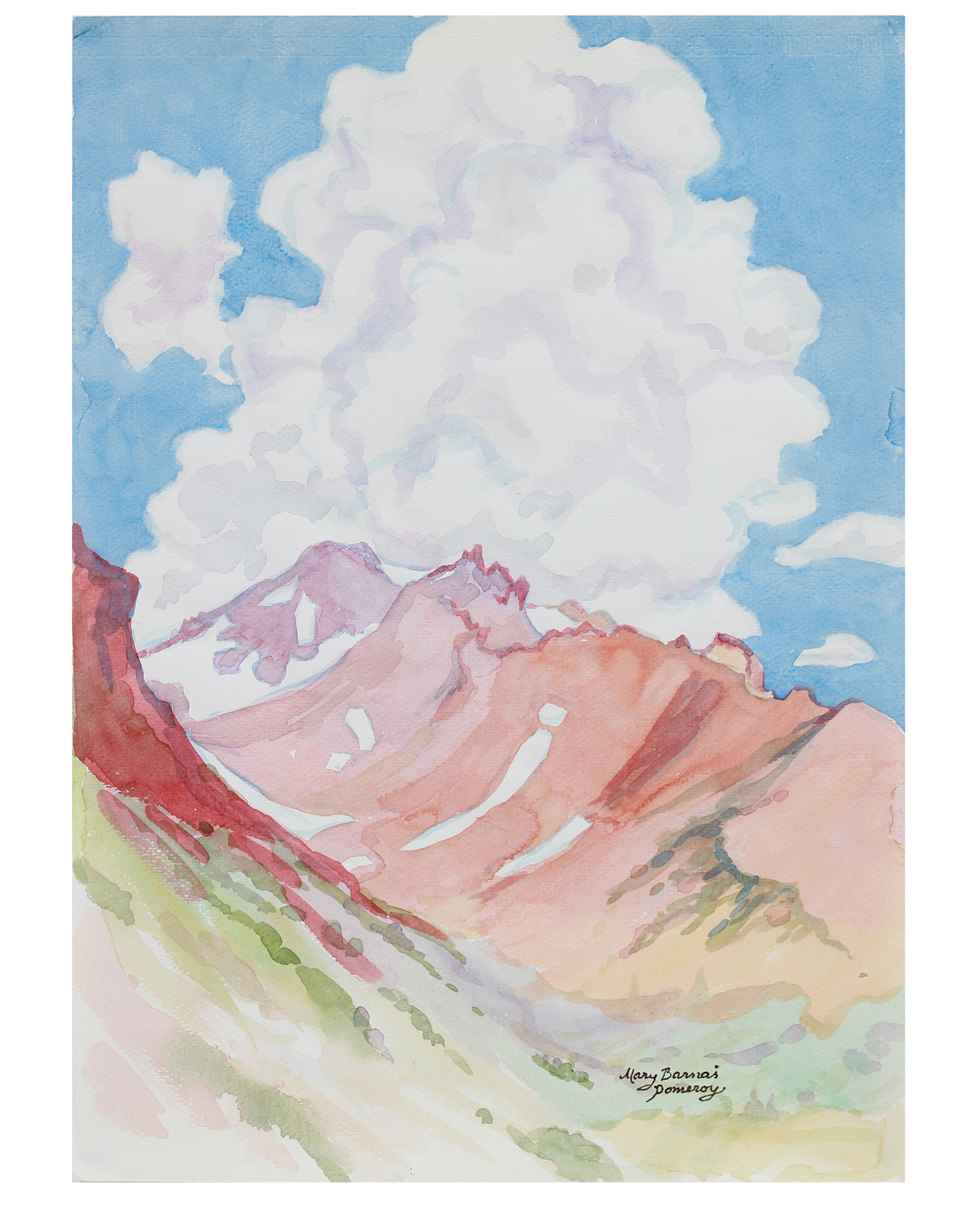 """""""Mount Shasta - From Above Panthen Meadows"""" by Mary Pomeroy,"""