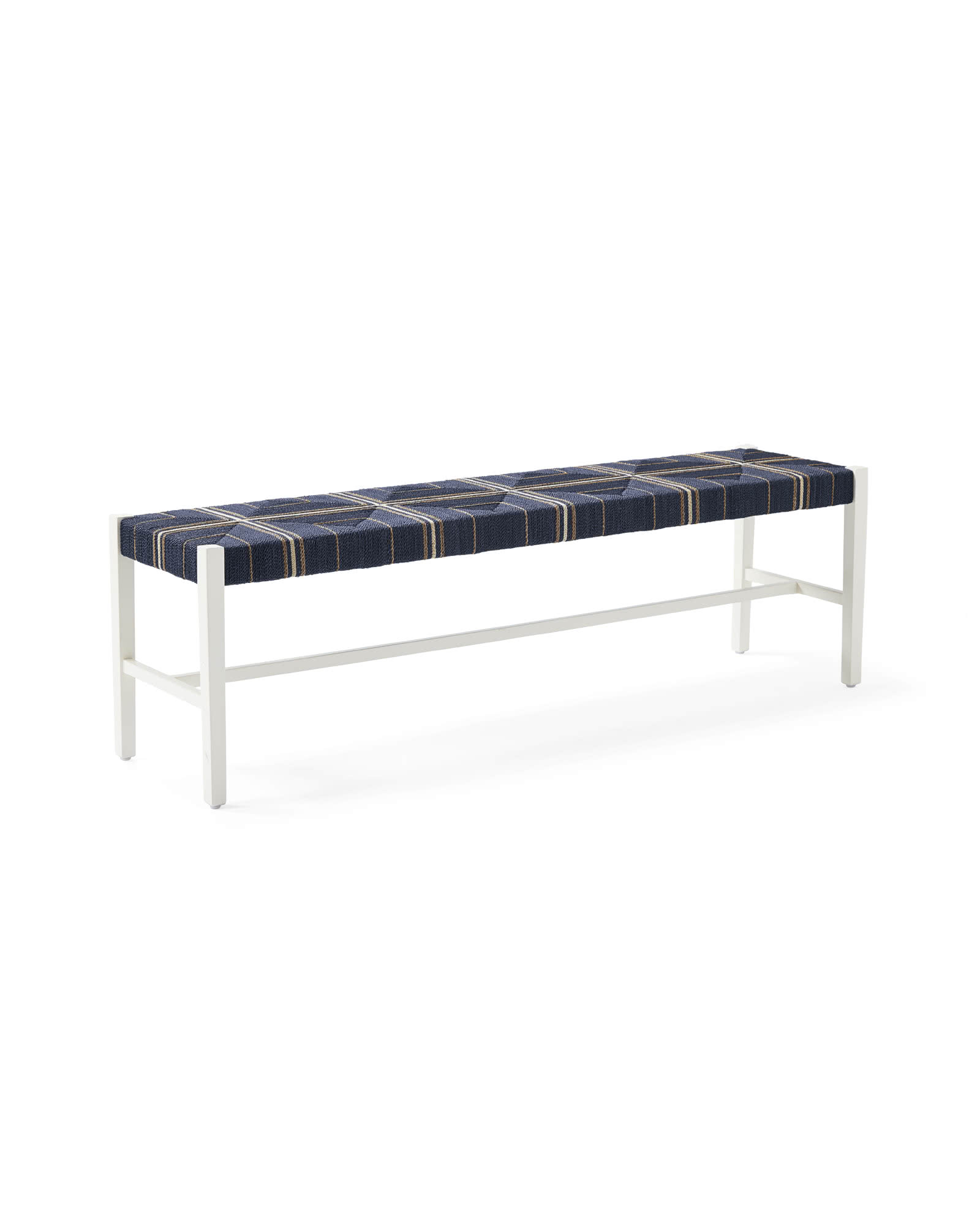 Carson Backless Bench, Navy