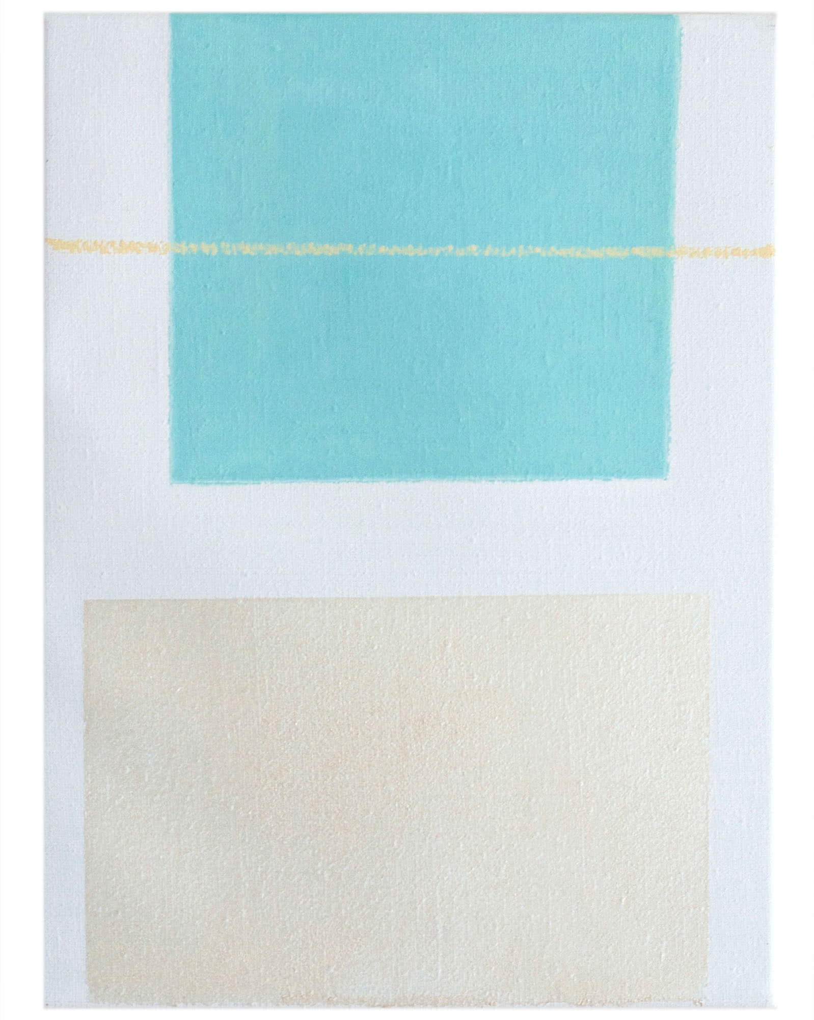 """""""Aqua/Pearl Study"""" by Laurie Fisher,"""
