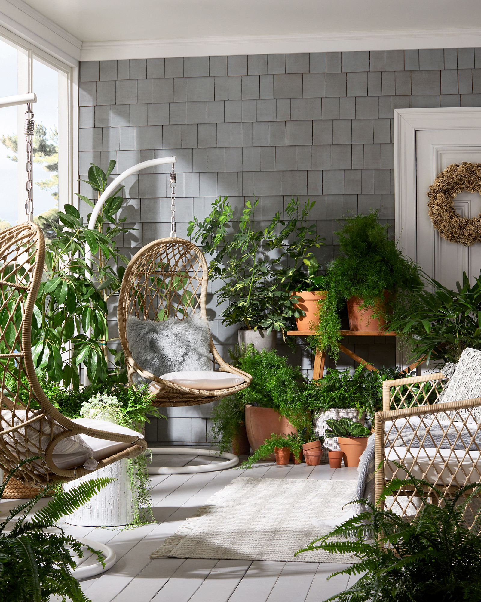Capistrano Outdoor Hanging Chair & Stand - Serena & Lily
