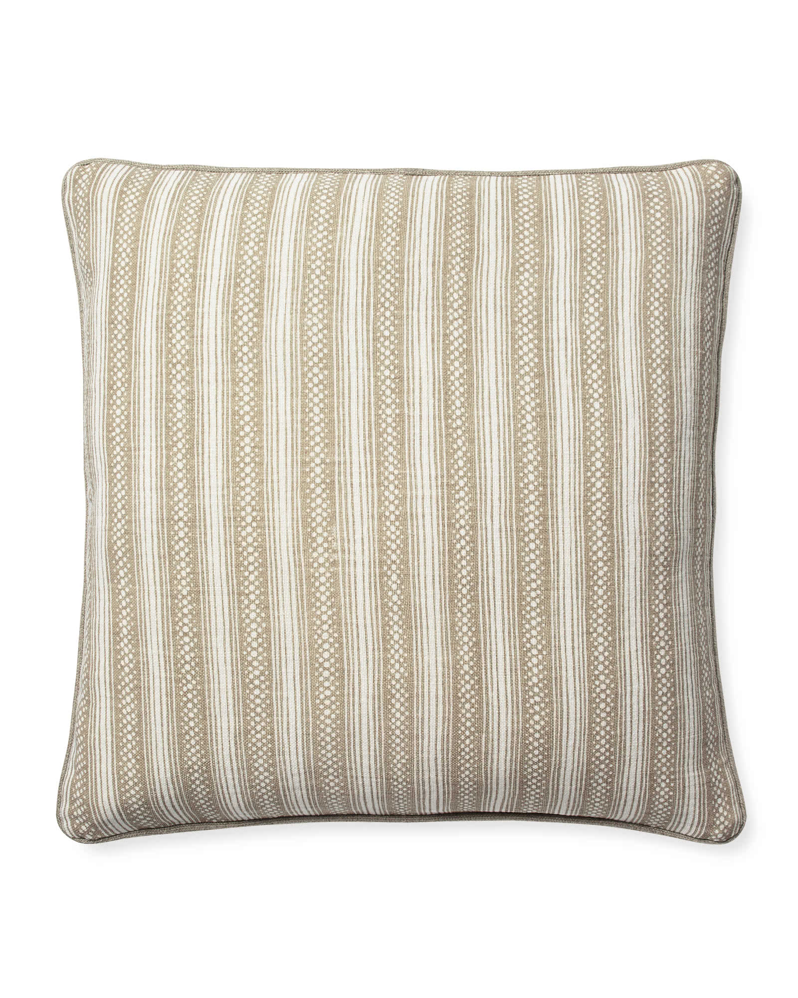 Stowe Pillow Cover, Flax/White
