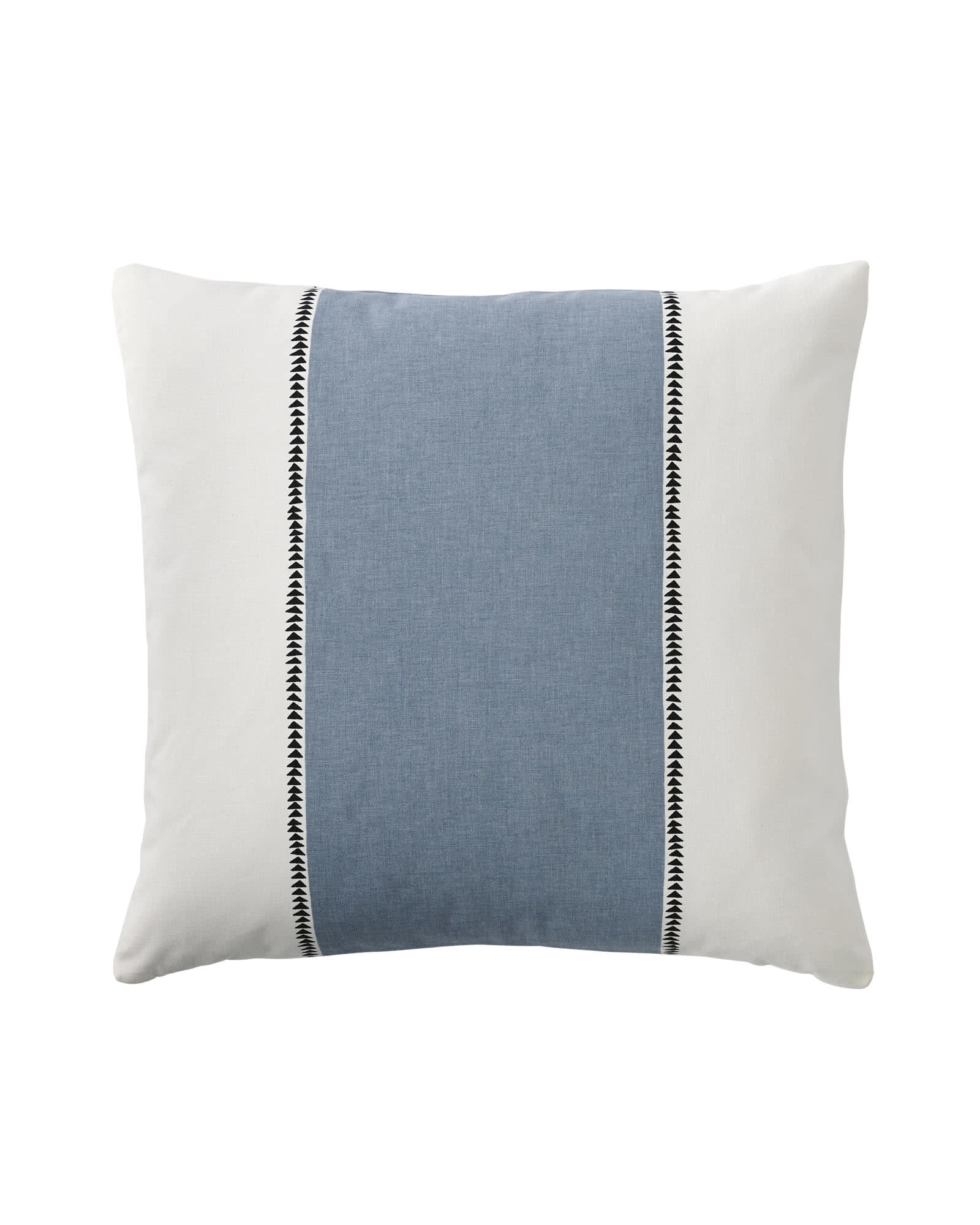 Racing Stripe Pillow Covers, Chambray