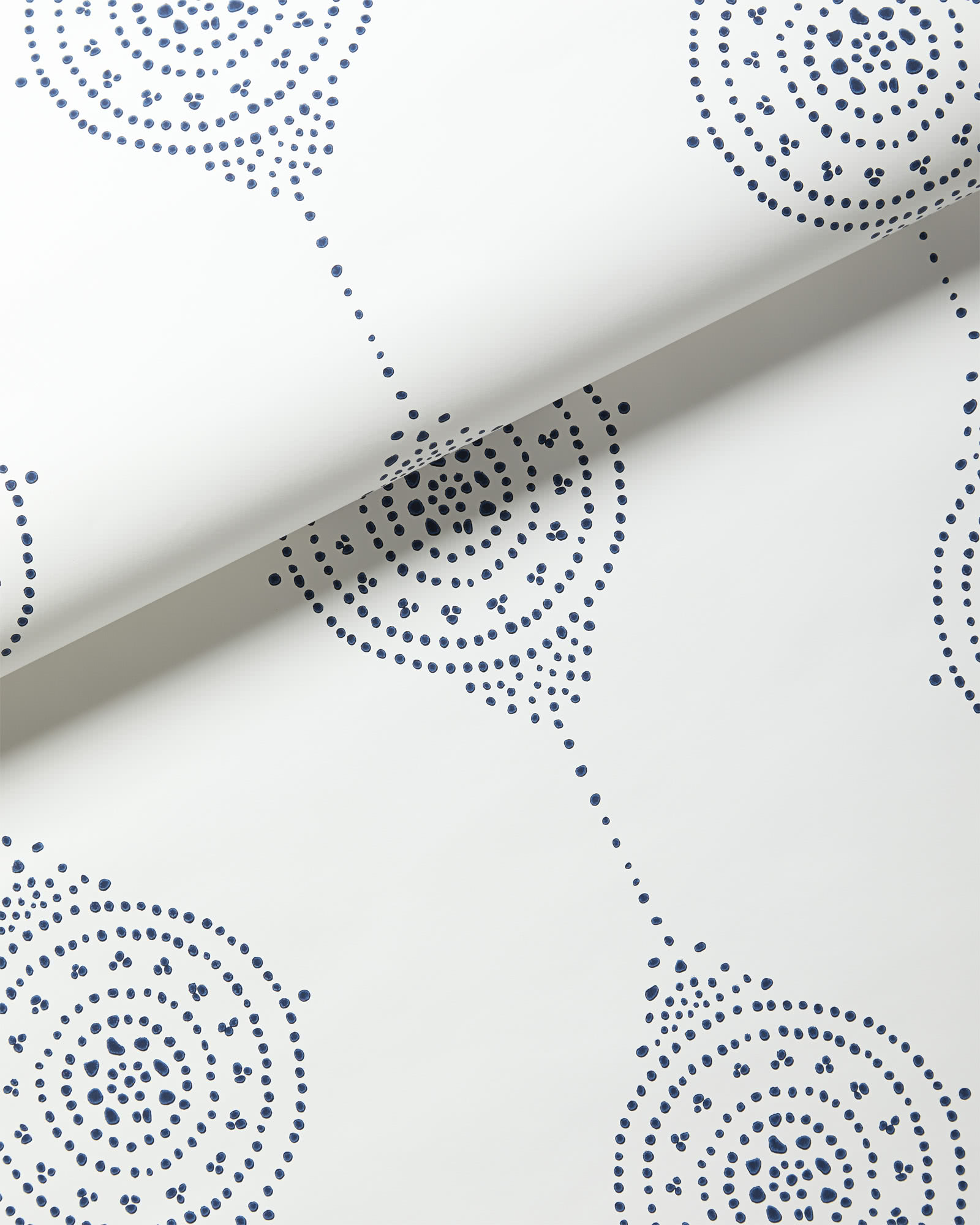 Luna Stripe Wallpaper, Navy
