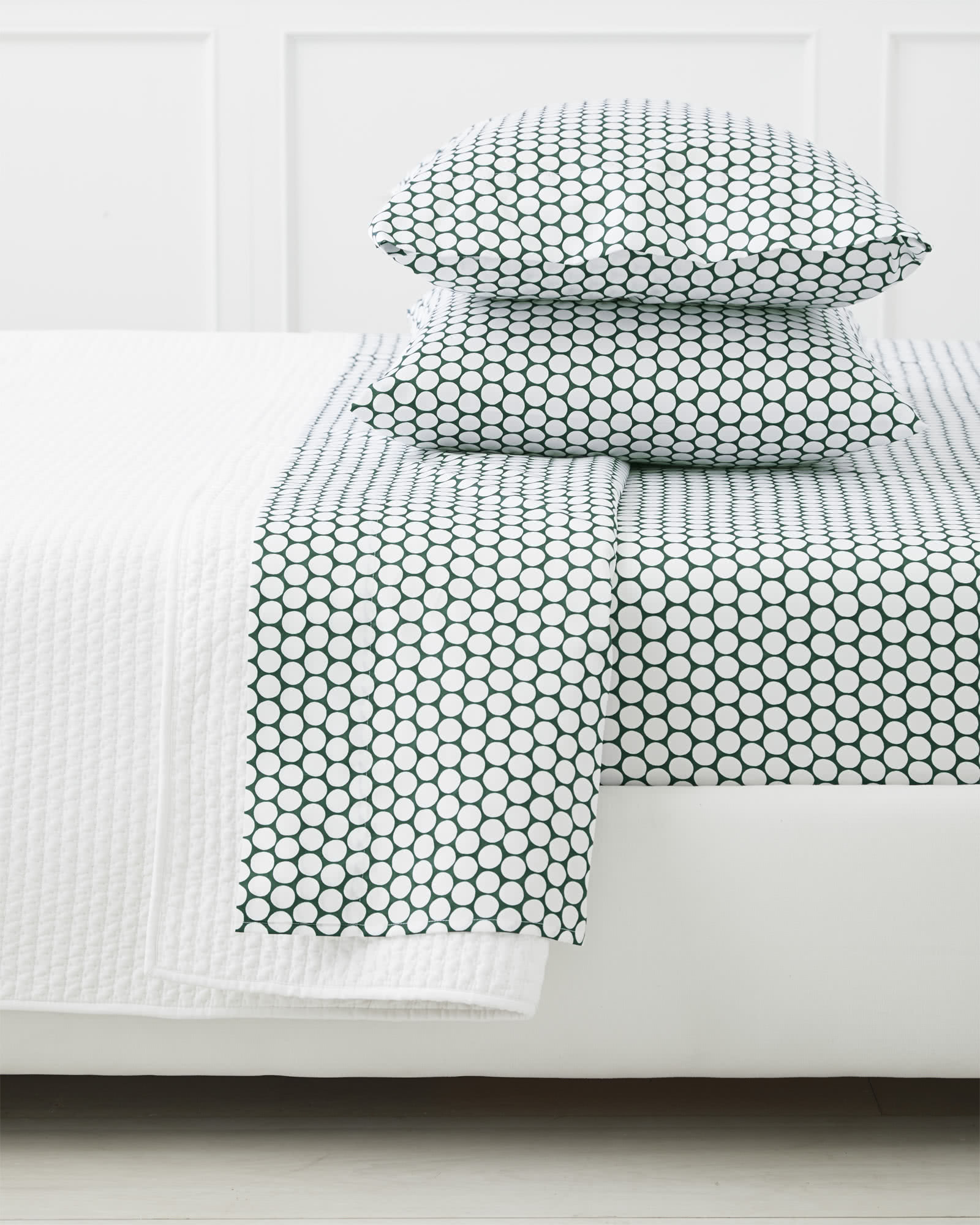 Color Dot Sheet Set - Palm Green