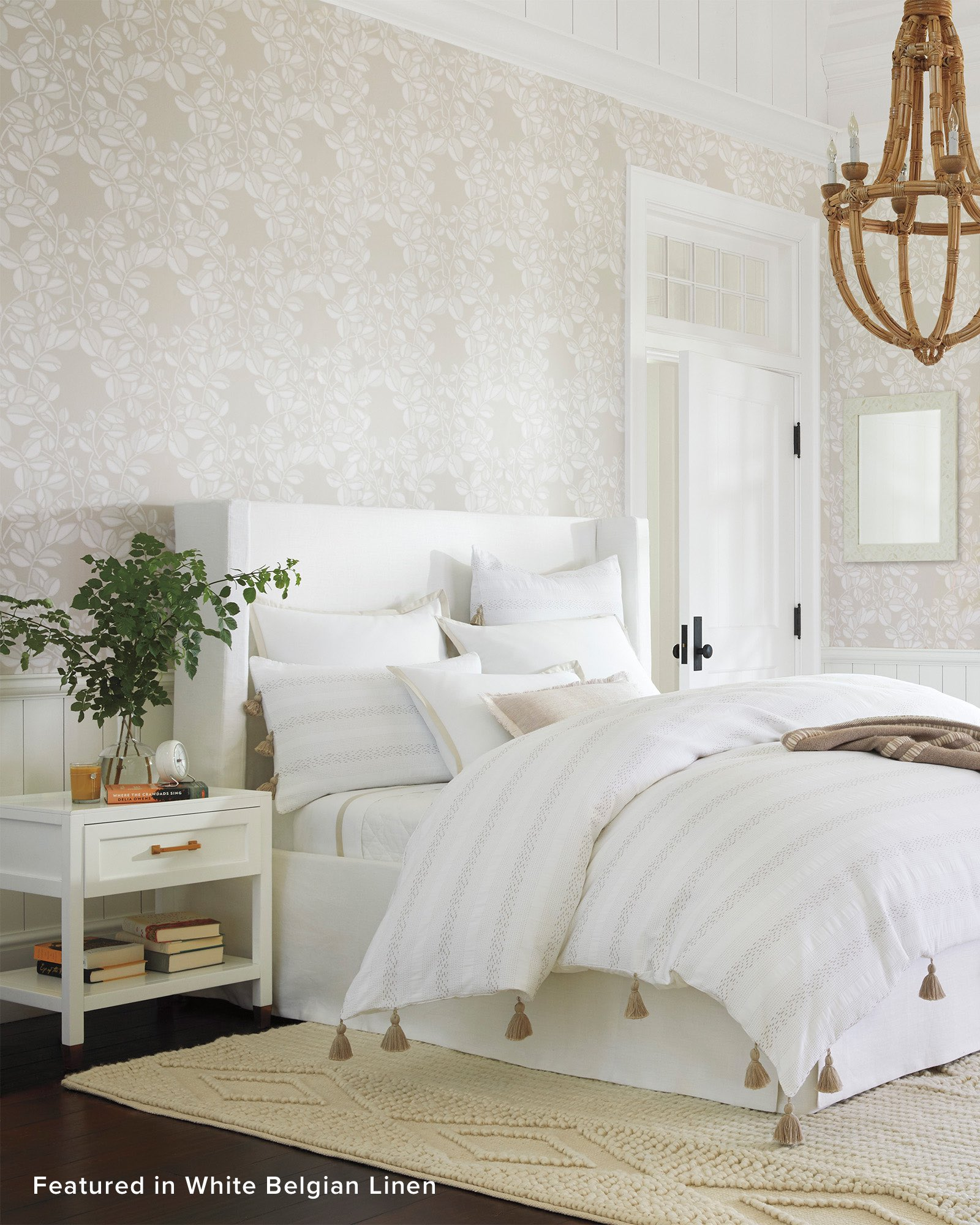Tall Broderick Slipcovered Bed - Serena & Lily