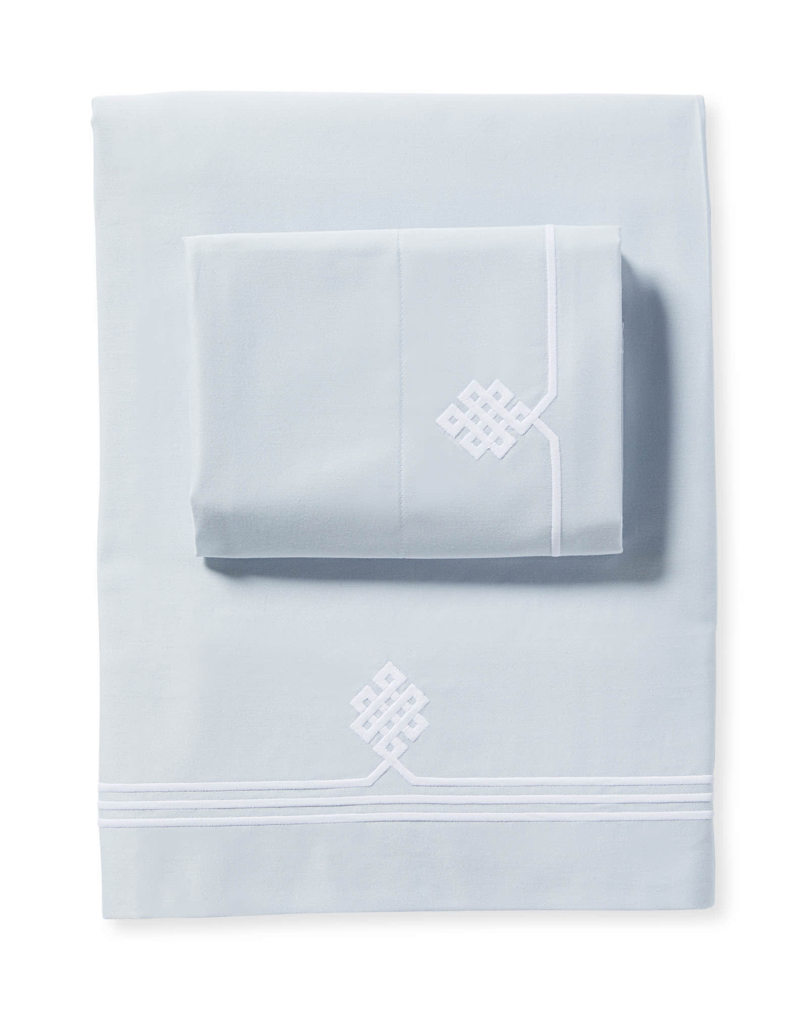 Soho Sheet Set, Sky/White