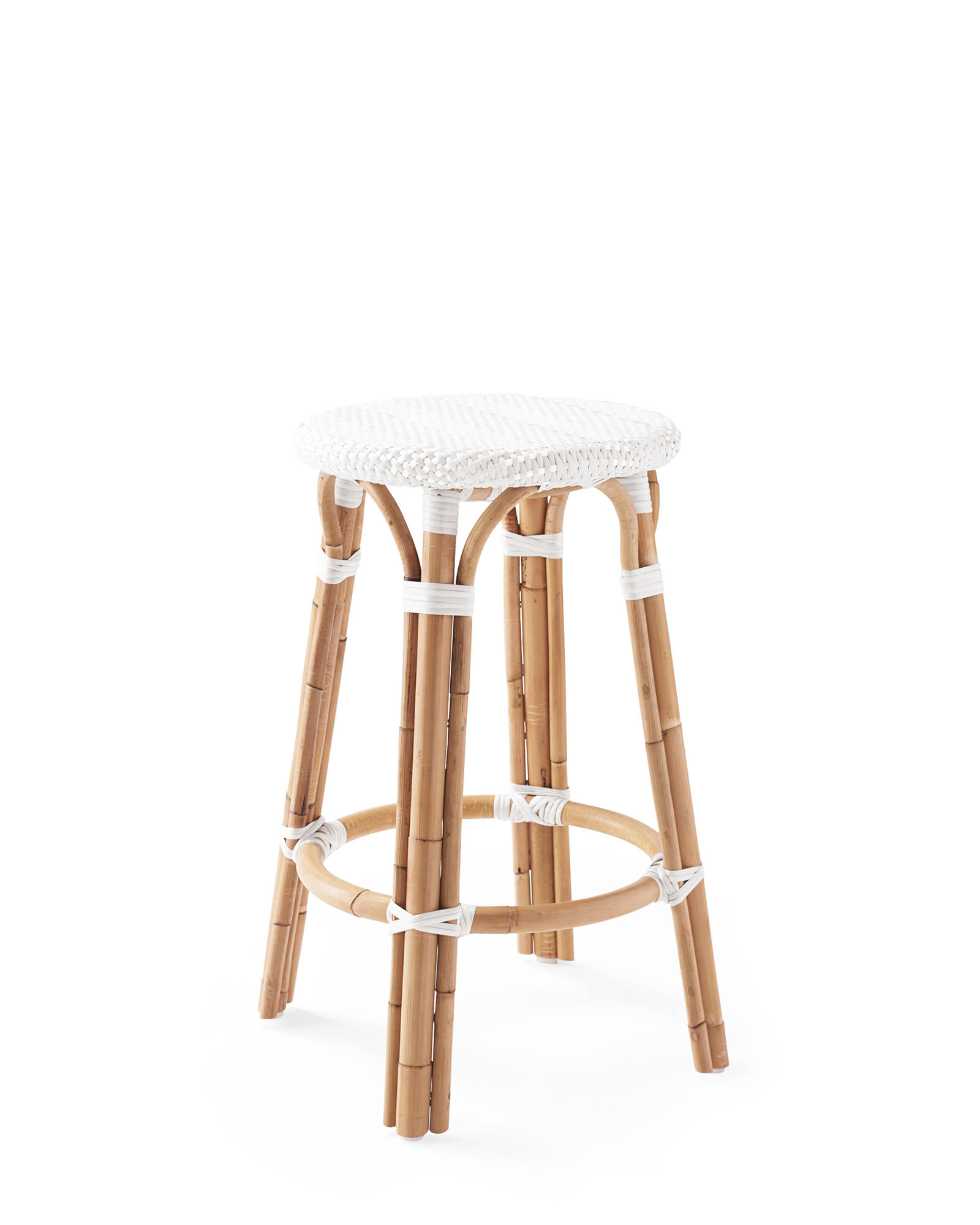 Riviera Backless Counter Stool, White