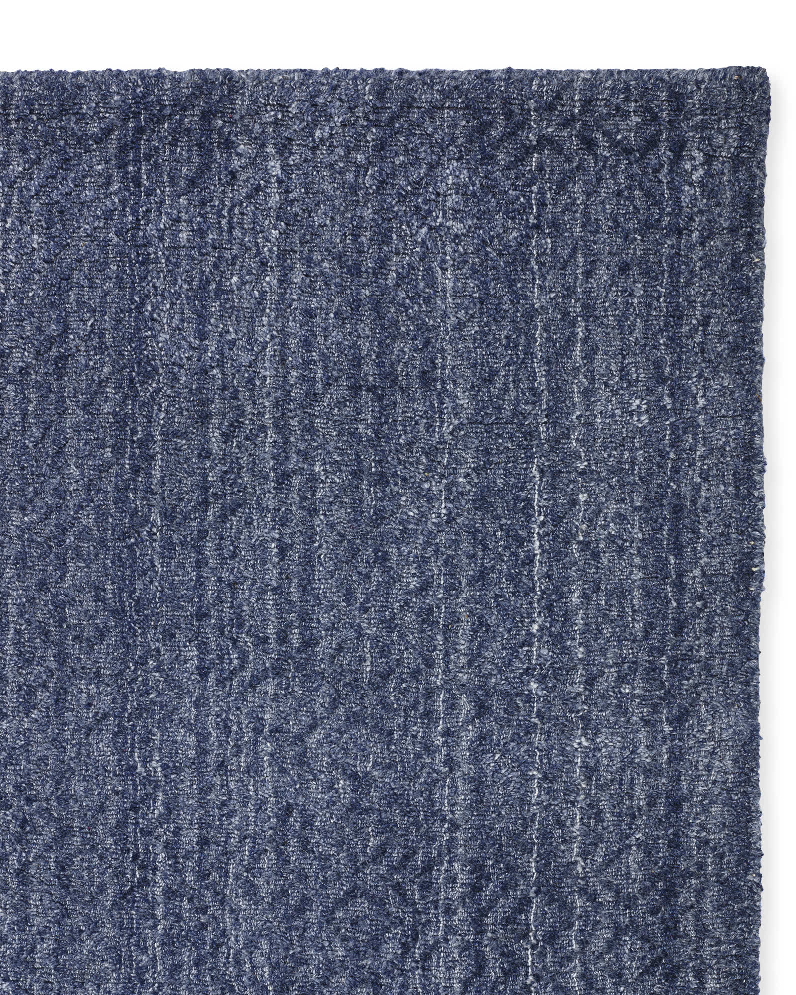 Rapallo Rug Swatch, Heathered Navy