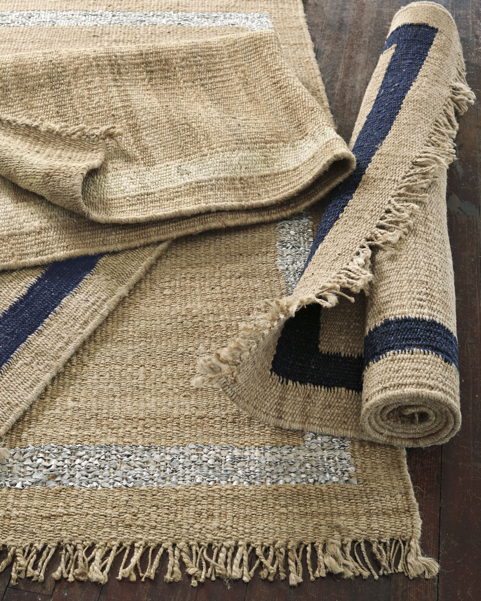 Jute Border Rug - Rugs & Dhurries