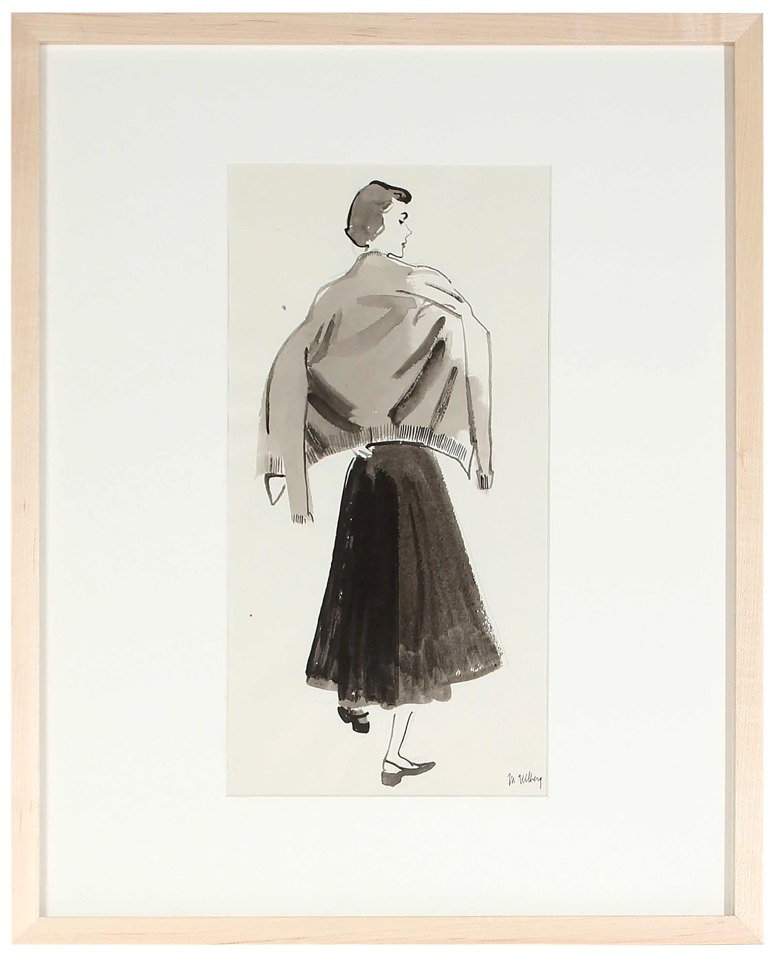 """Monochromatic Fashion Illustration"" by Marjorie Ullberg,"