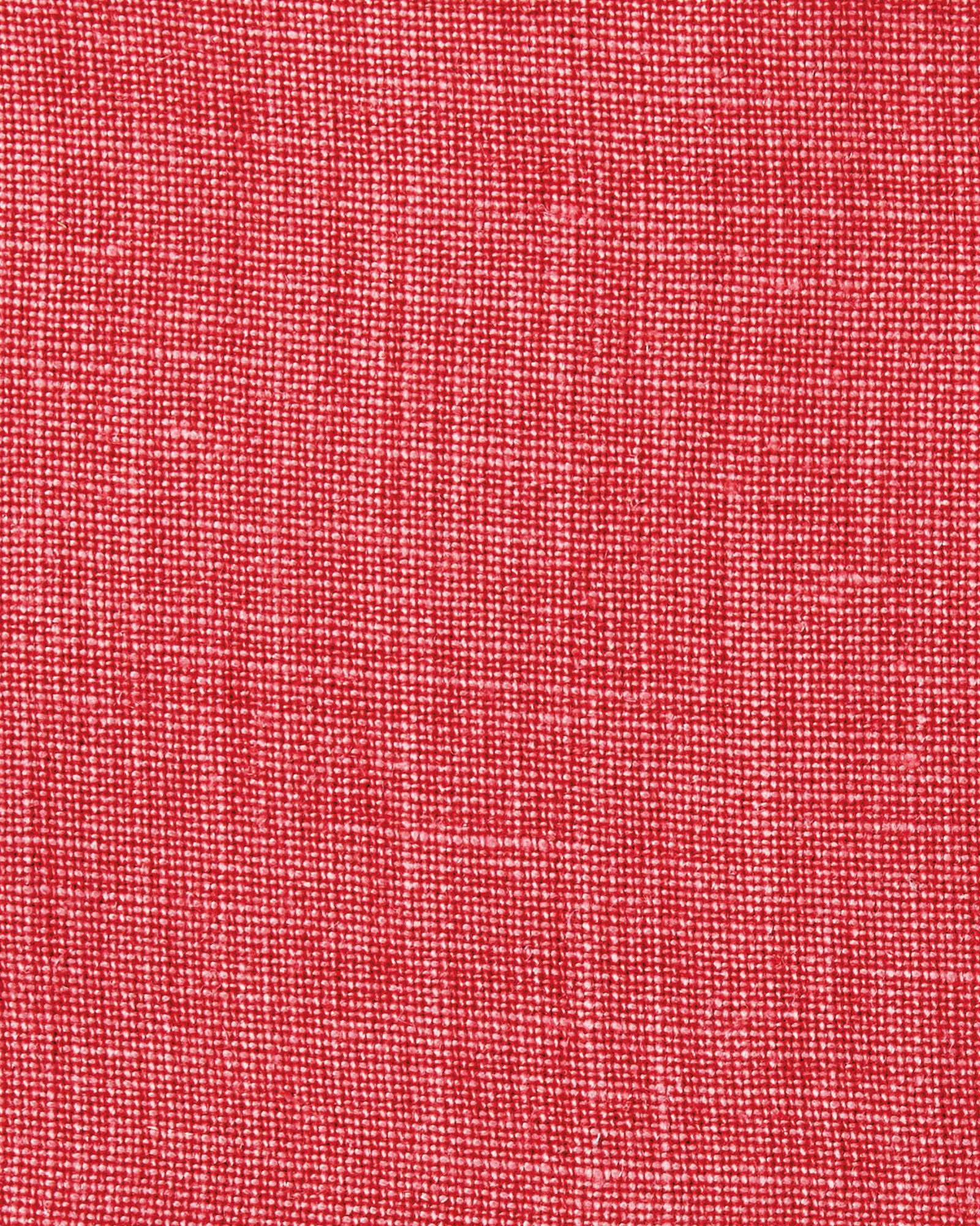 Washed Linen Fabric, Red