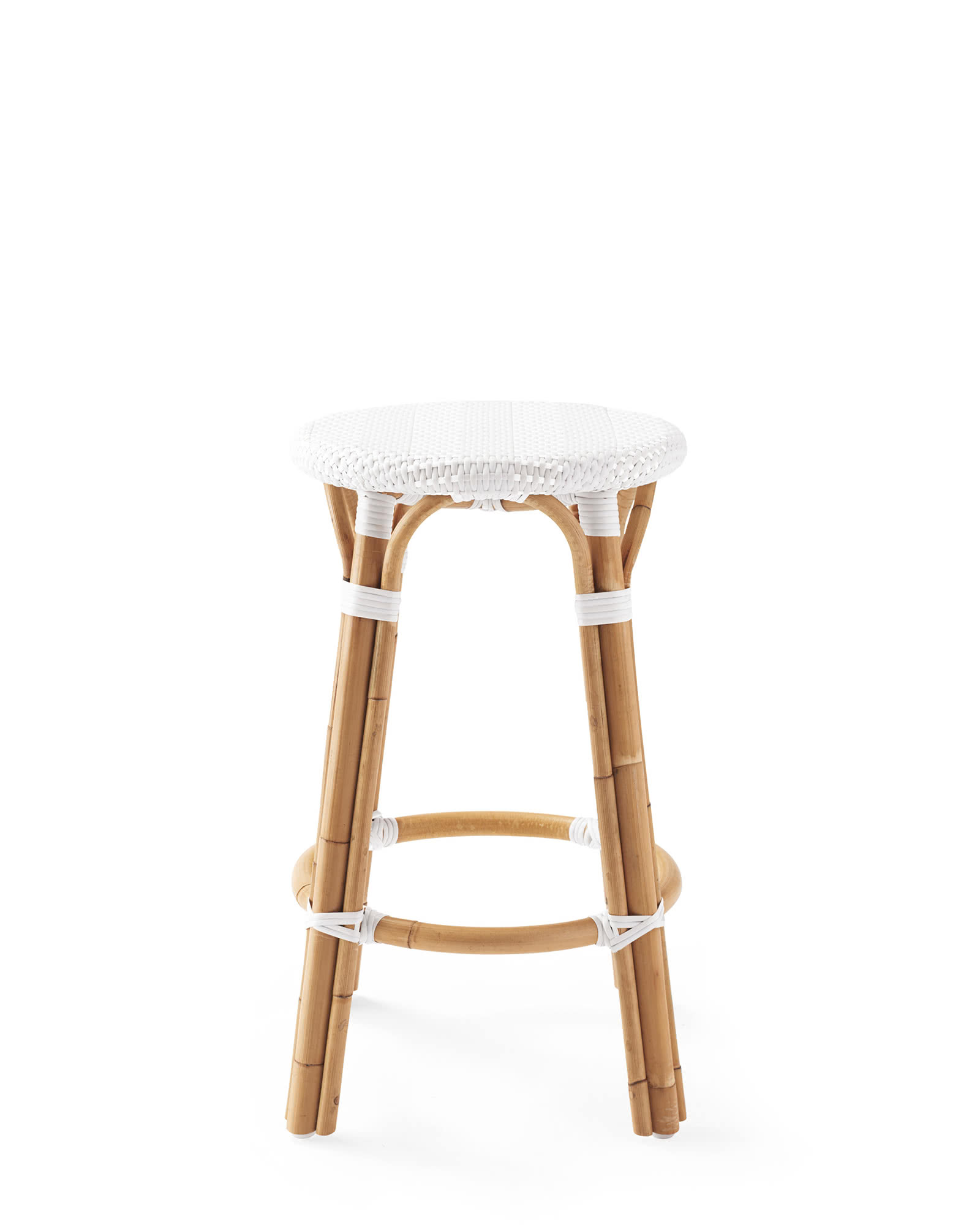 Riviera Backless Bar & Counter Stools, White