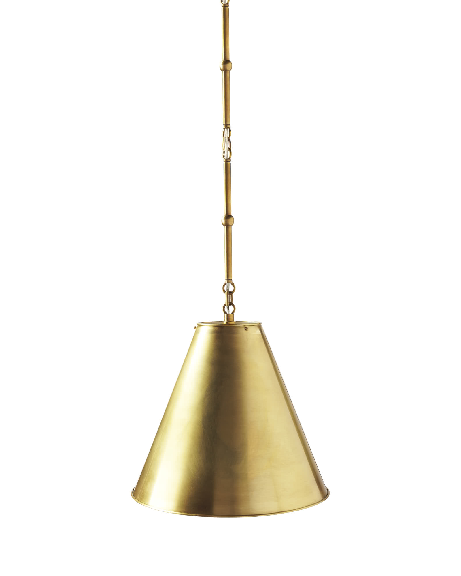 Goodman Pendant, Antique Brass
