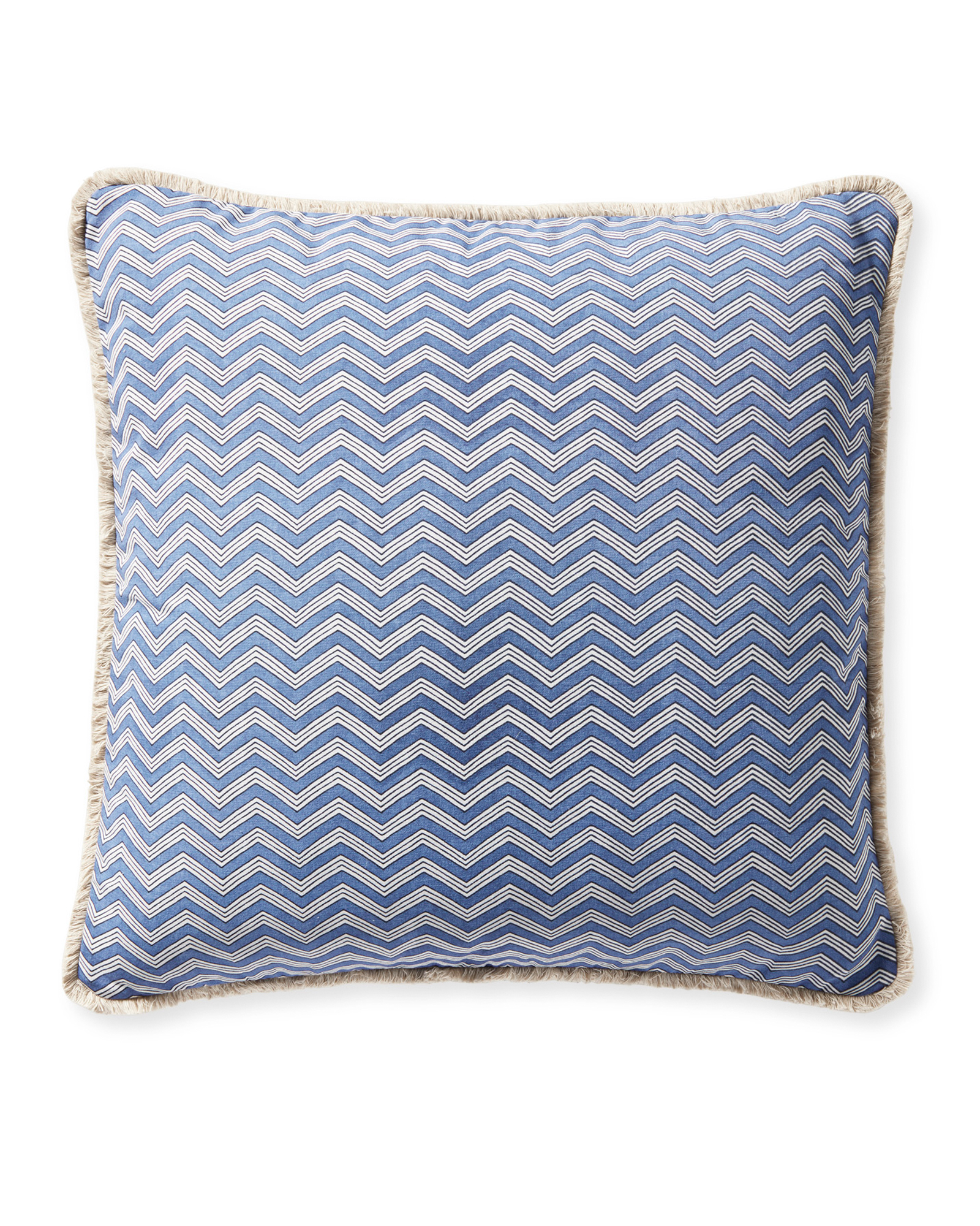 Calais Pillow Cover, French Blue/Navy