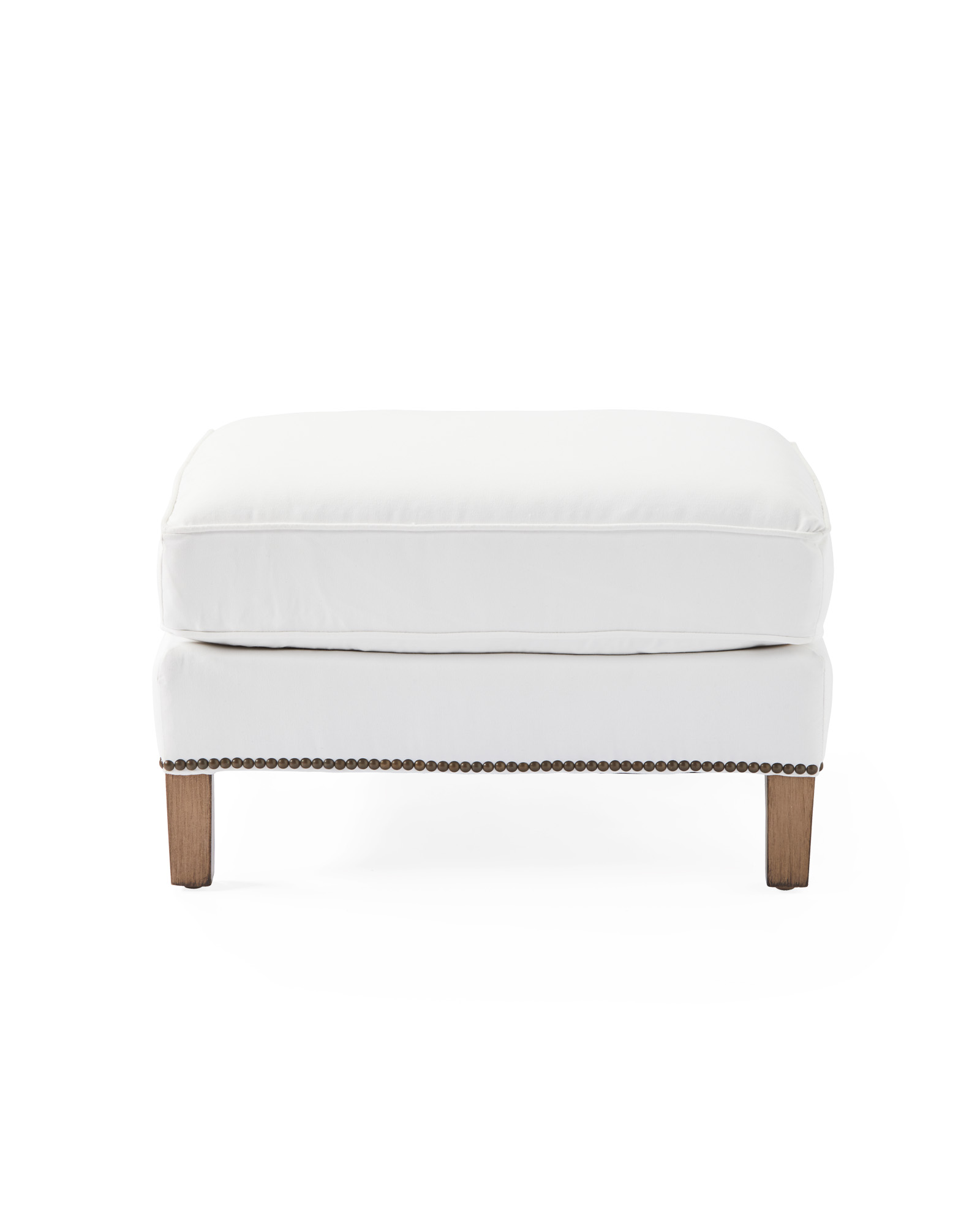 Canyon Ottoman with Nailheads,