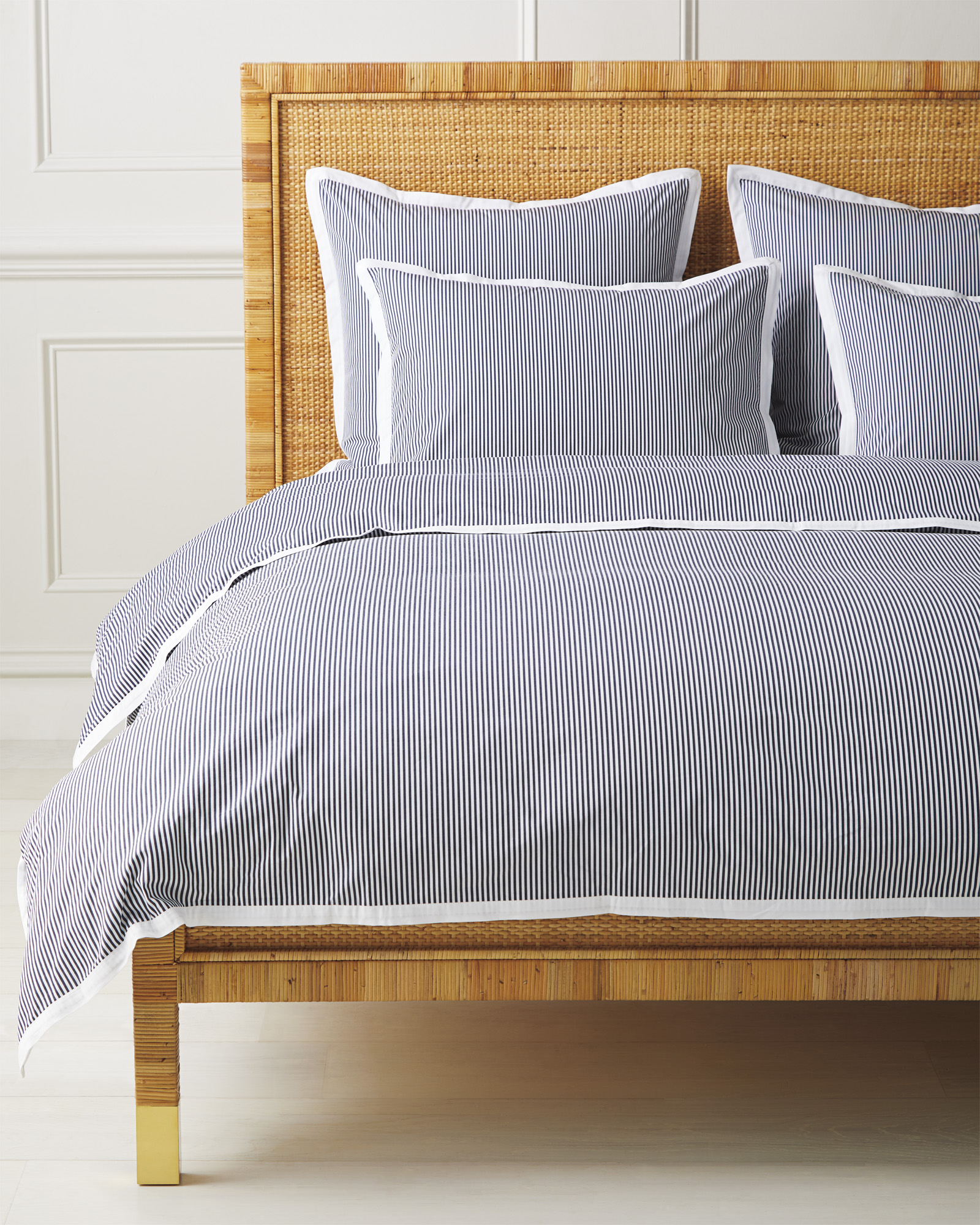 Oxford Stripe Duvet Cover, Midnight
