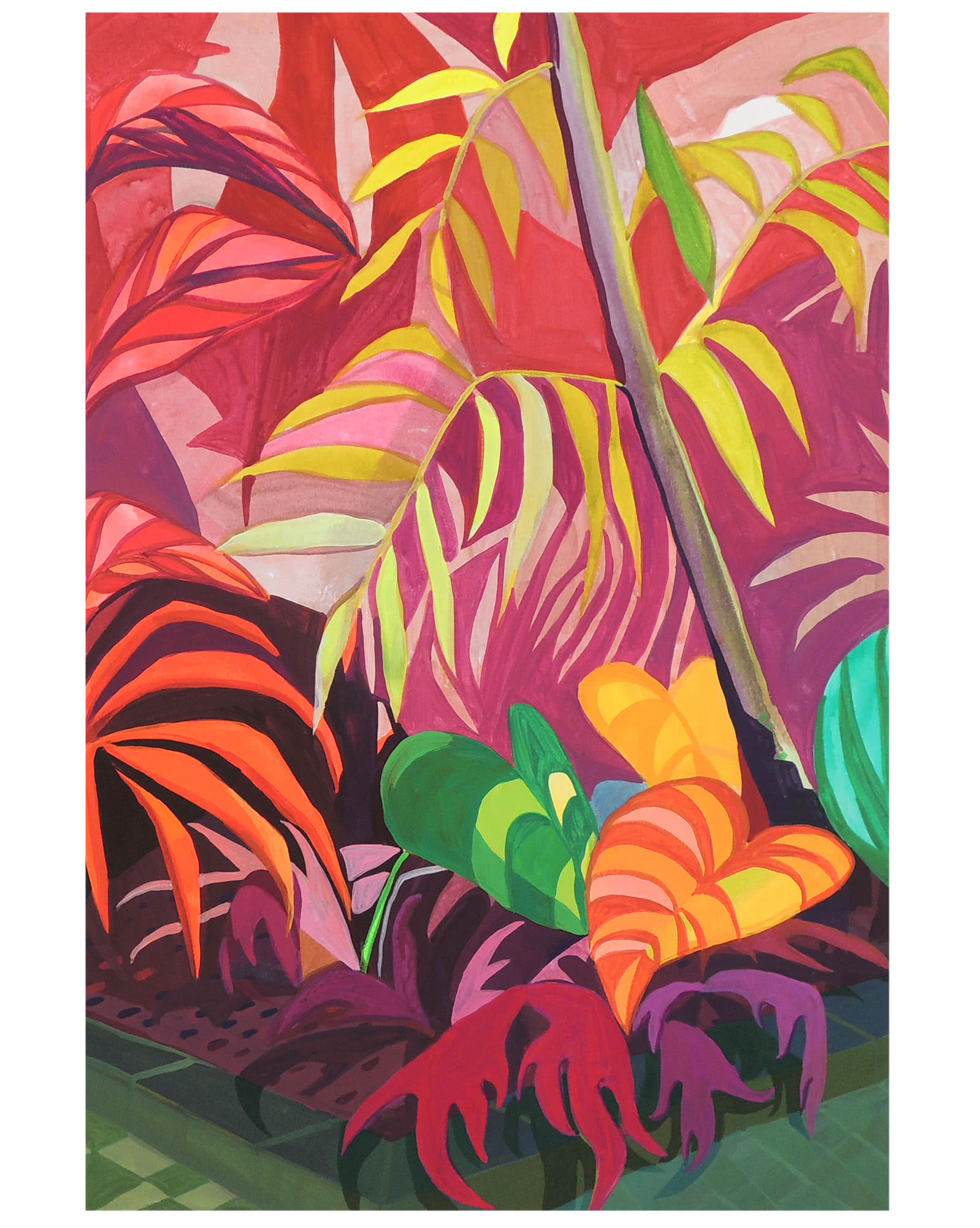 """""""Pink Bamboo"""" by Claire Elliott,"""