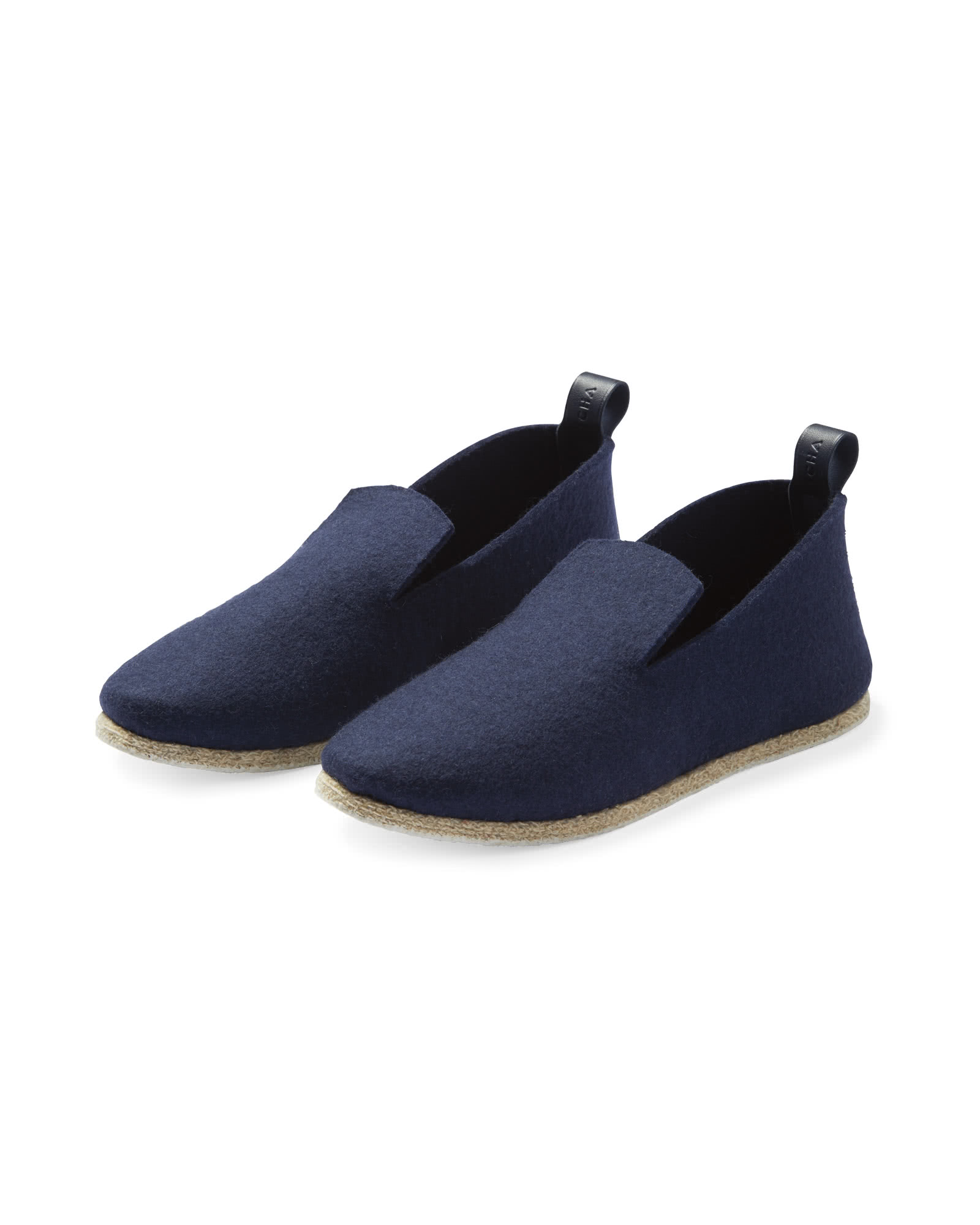 French Felt Slippers, Navy