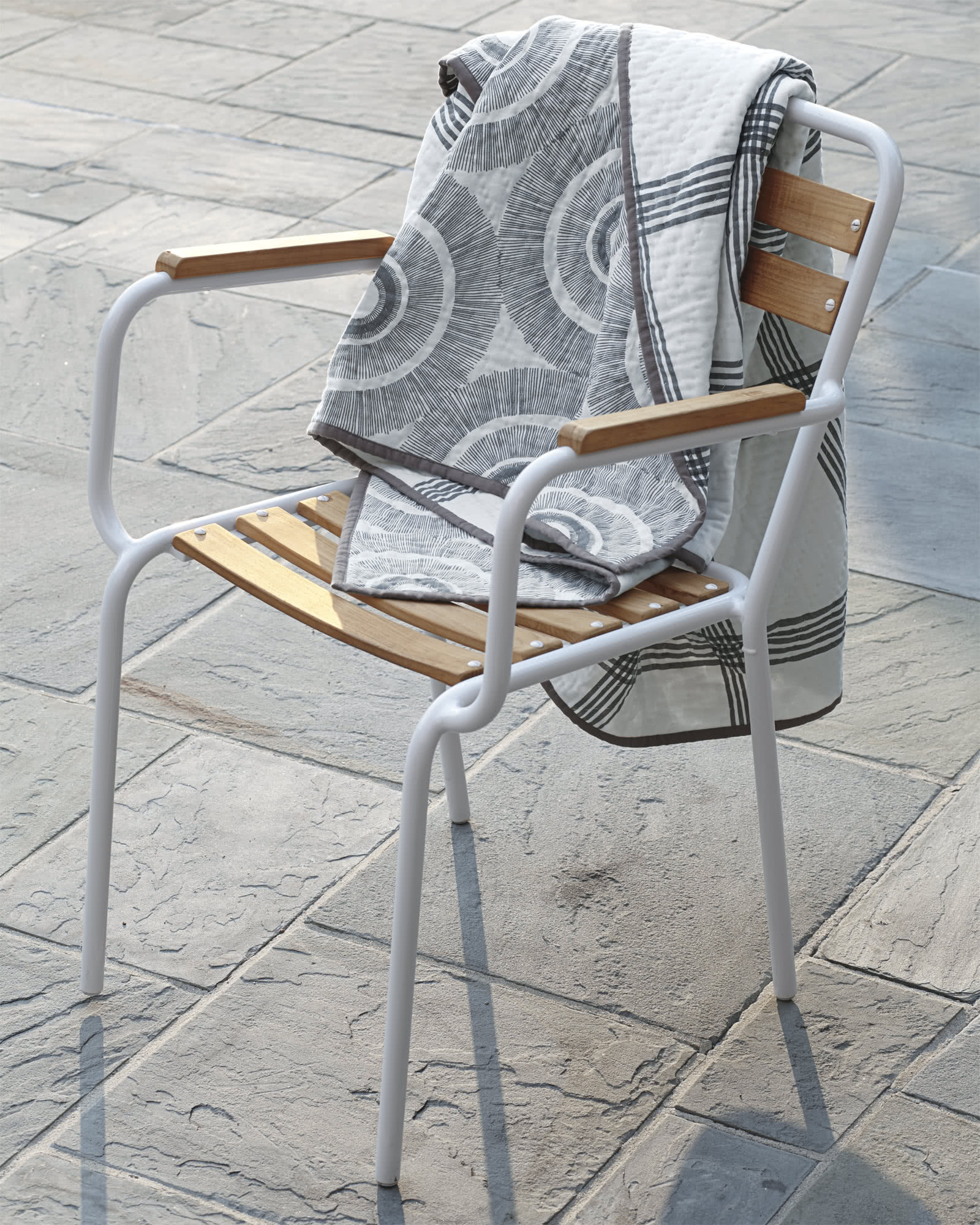 Inverness Outdoor Armchair, White