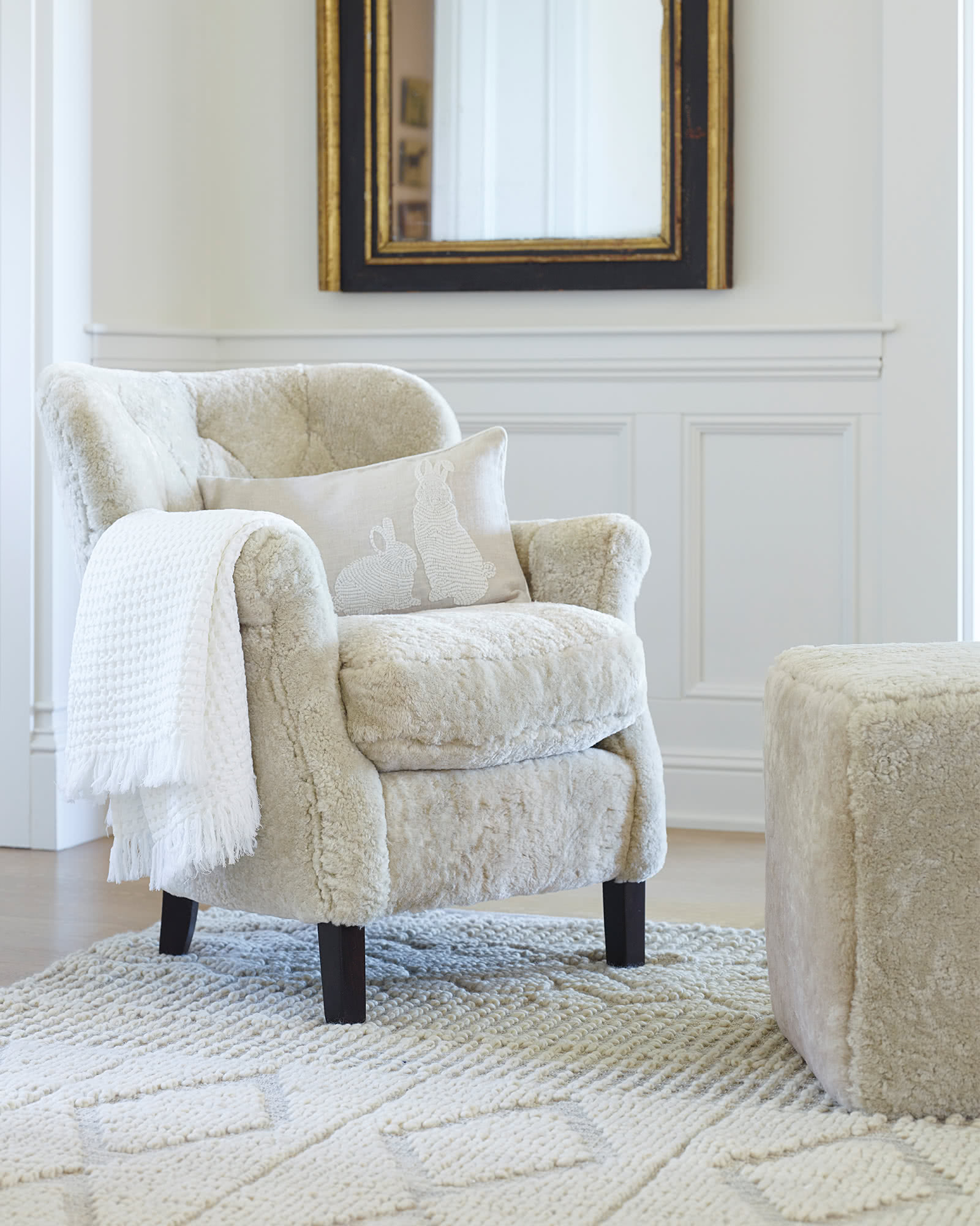 Belgian Club Chair Shearling Serena Amp Lily