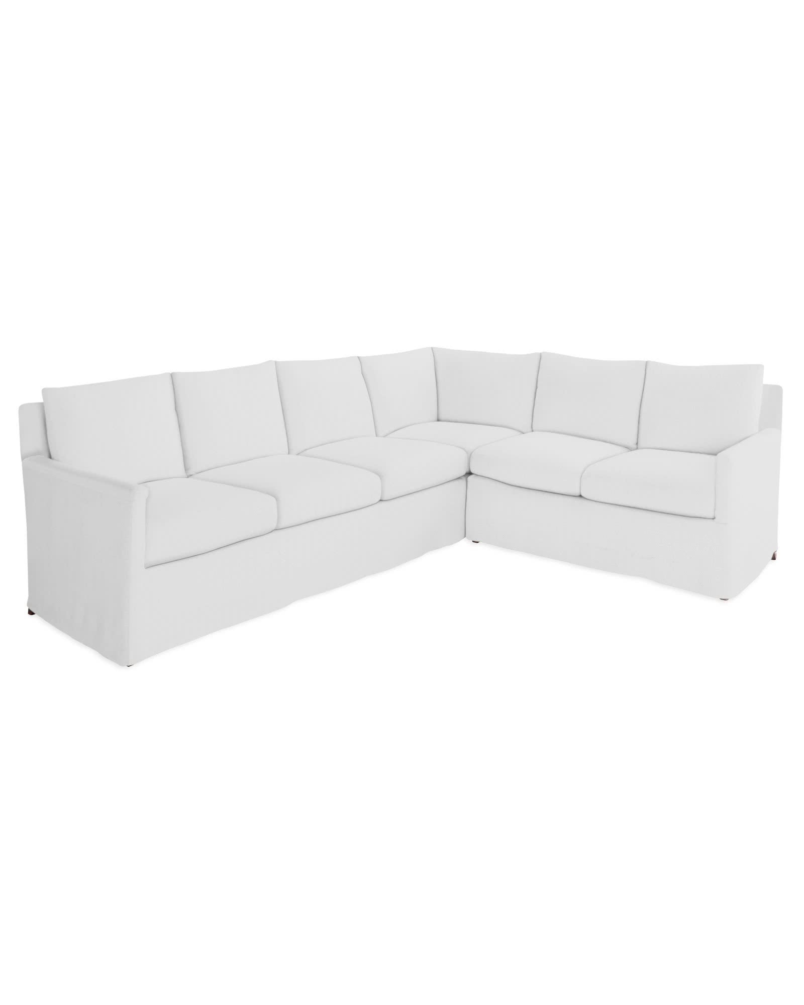 Spruce Street Slipcovered L-Sectional – Right-Facing,
