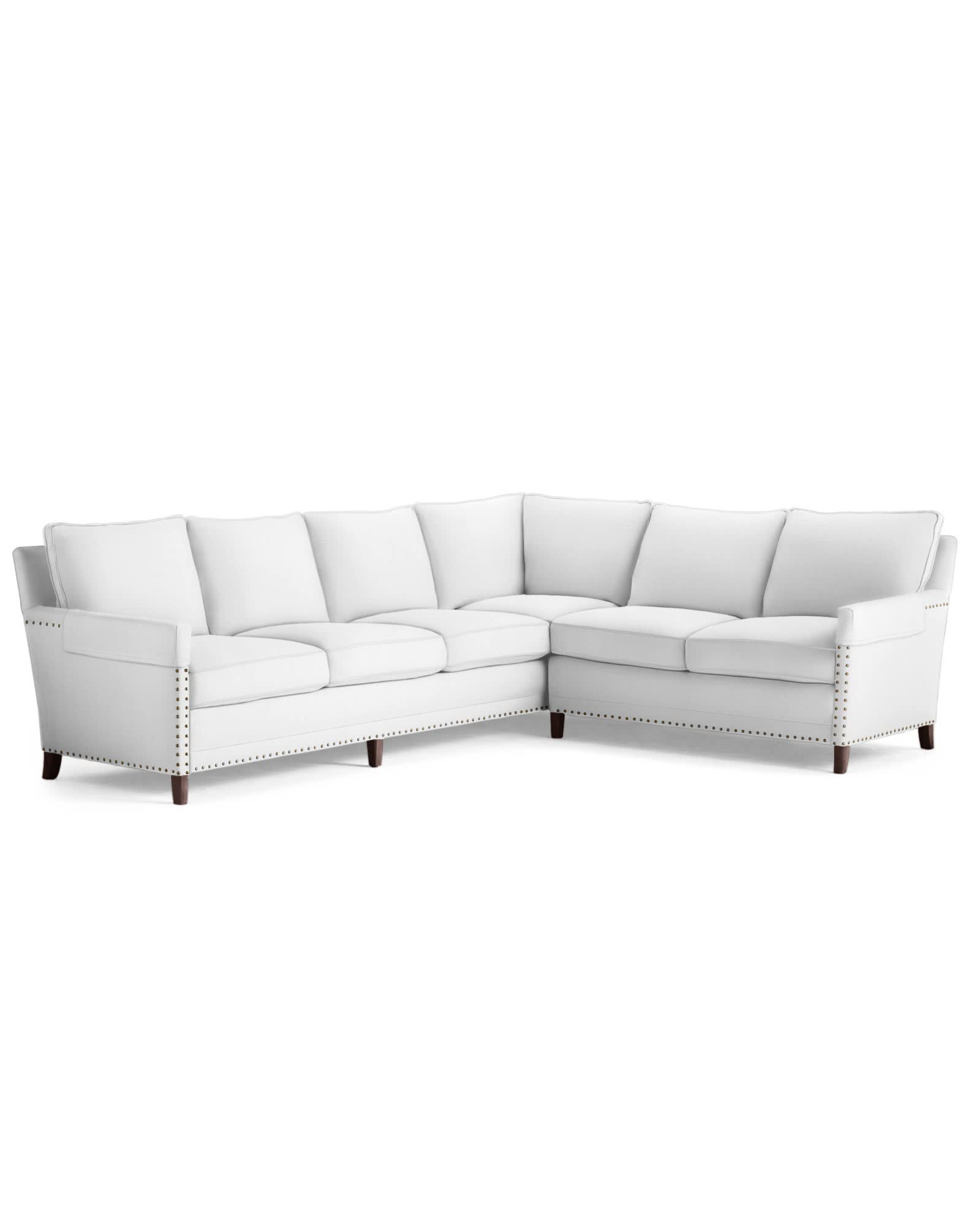 Spruce Street Right-Facing L-Sectional with Nailheads