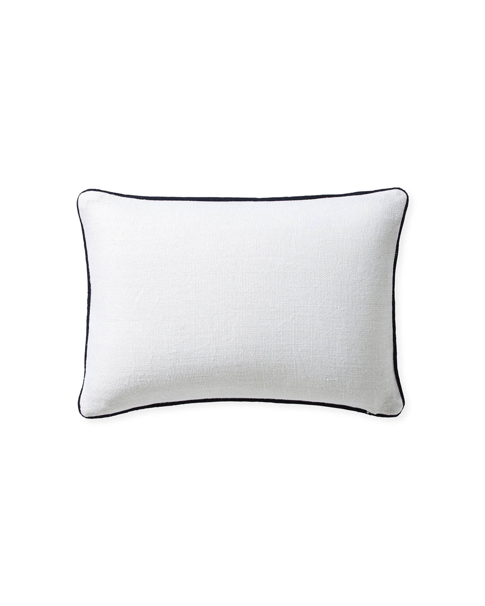 Blossom Pillow Cover, White/Harbor