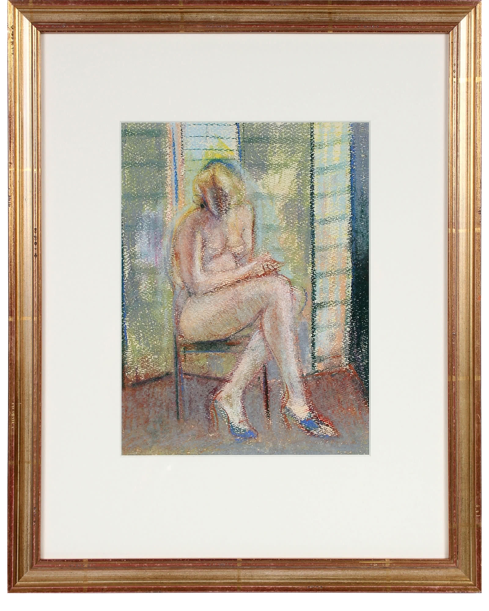 """""""Seated Nude in Heels"""" by Schuyler Standish"""