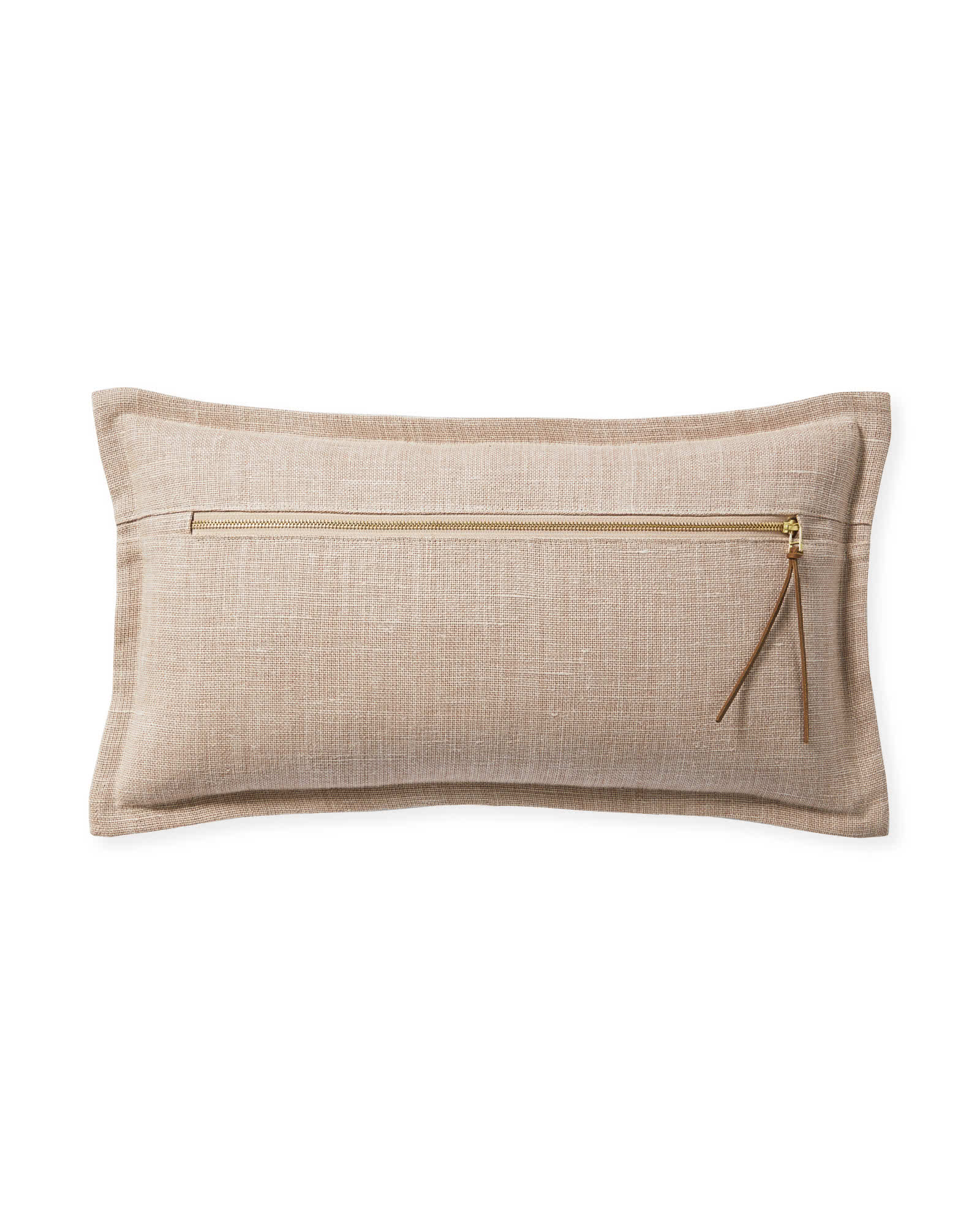Two Tone Zip Pillow Cover, Pink Sand