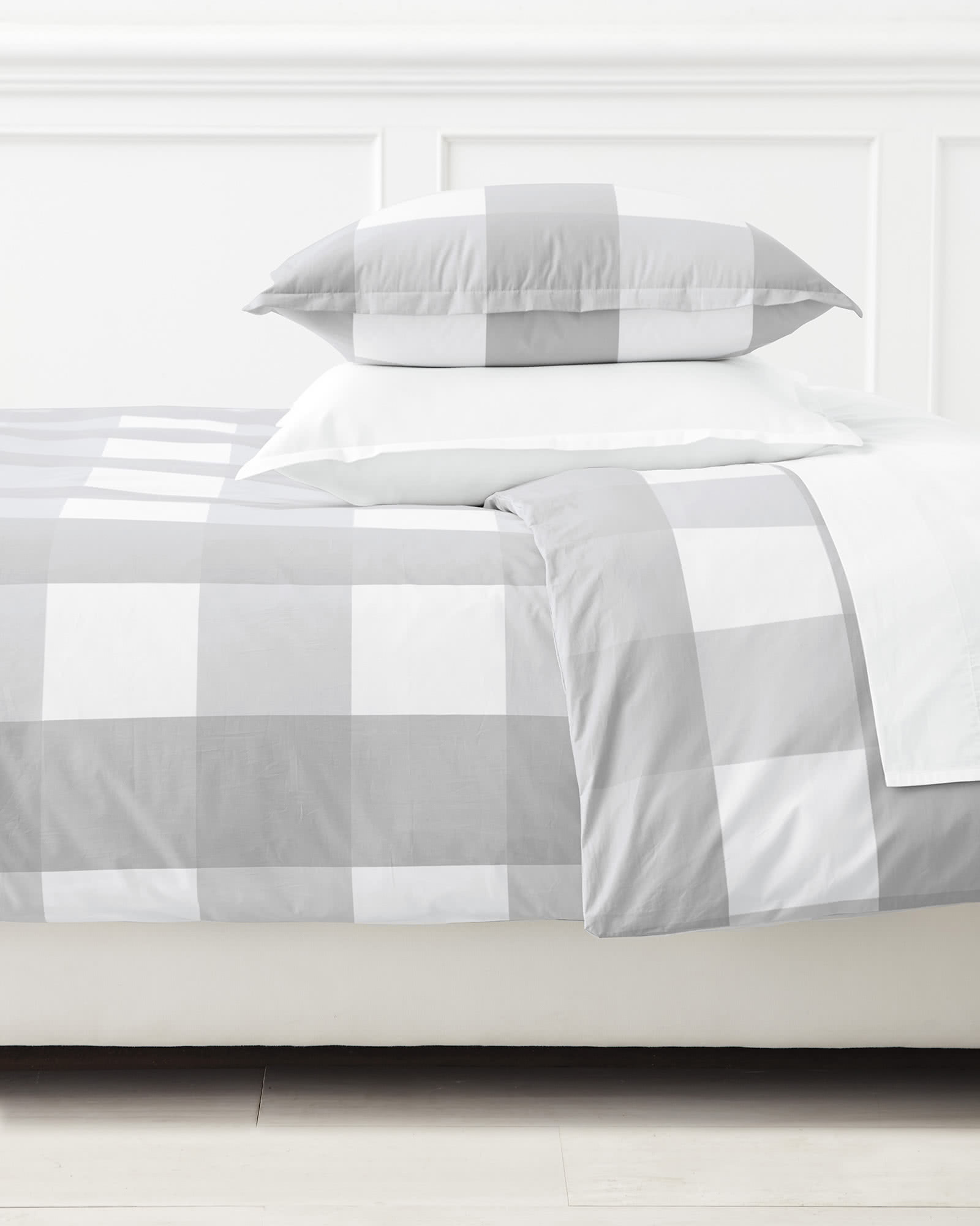 Gingham Duvet Cover, Fog