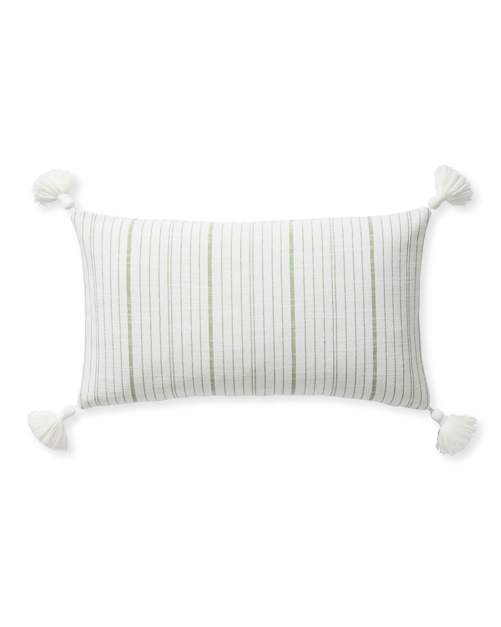 Surf Stripe Pillow Cover, Moss Green