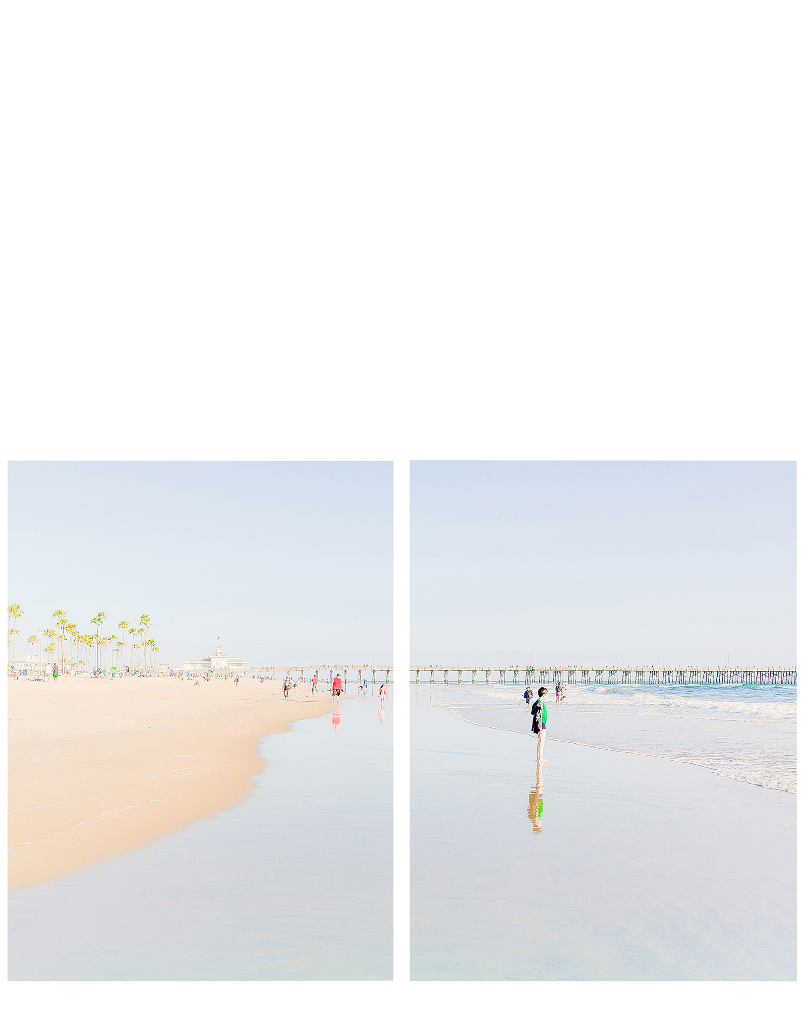 """""""Family Day at Newport Beach""""  by Caroline Pacula,"""