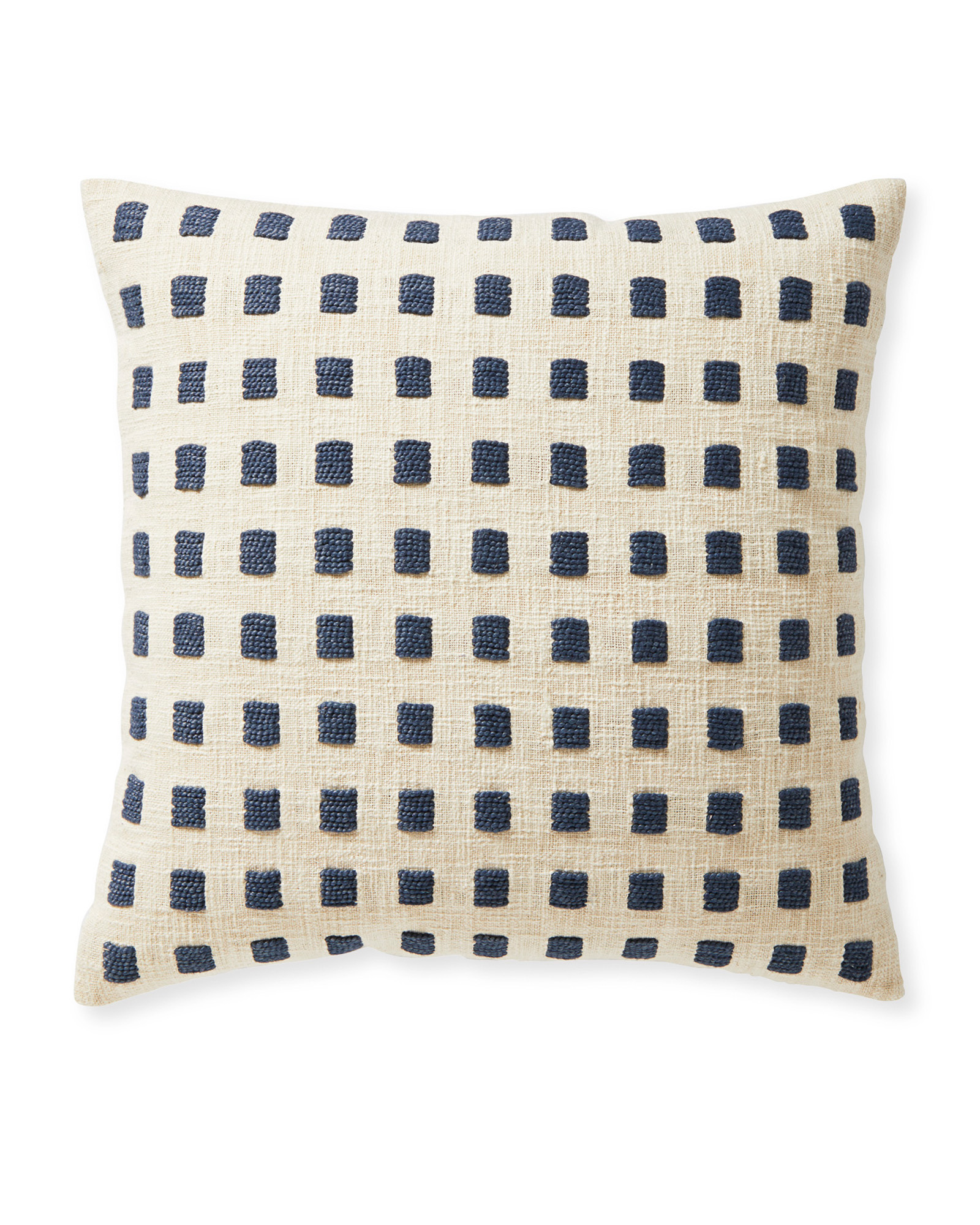 Pebble Cove Pillow Cover, Ivory/Navy