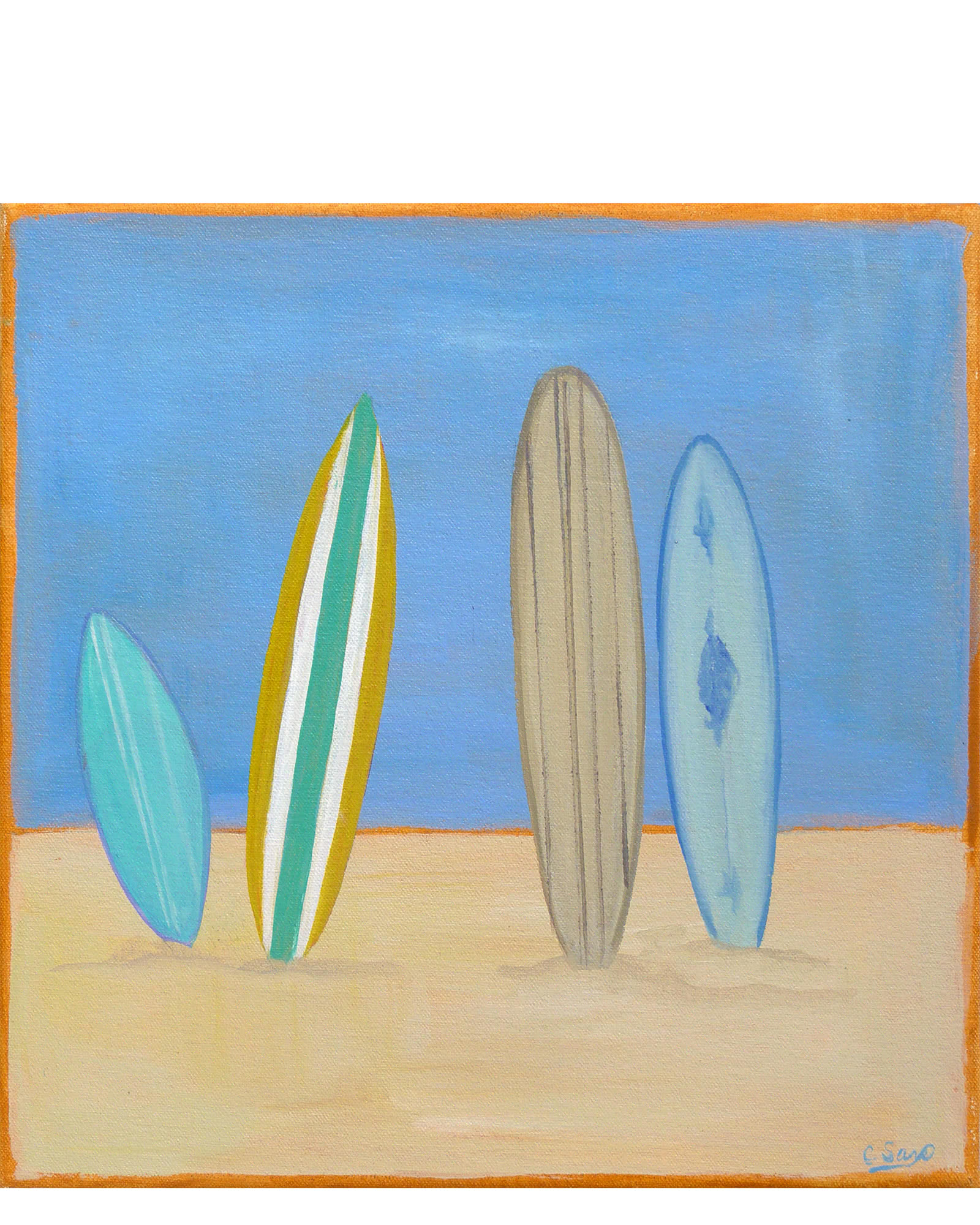 """Surfboards #2"" by Carol Saxe,"