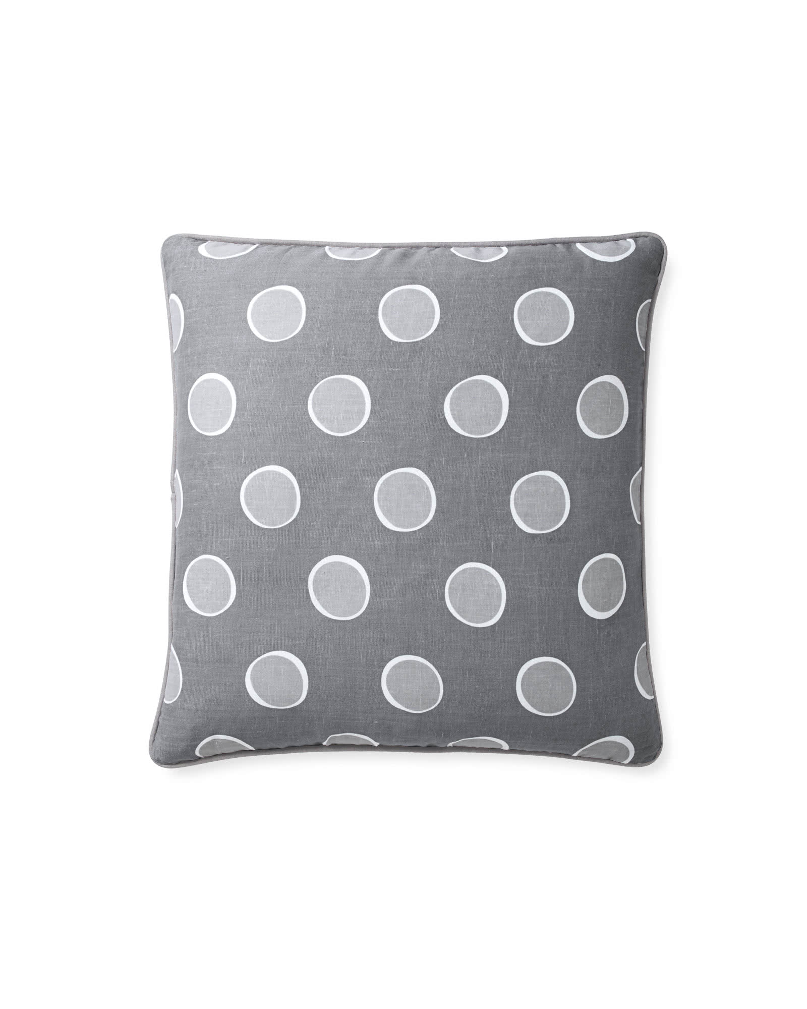 Polka Dot Pillow Cover, Fog