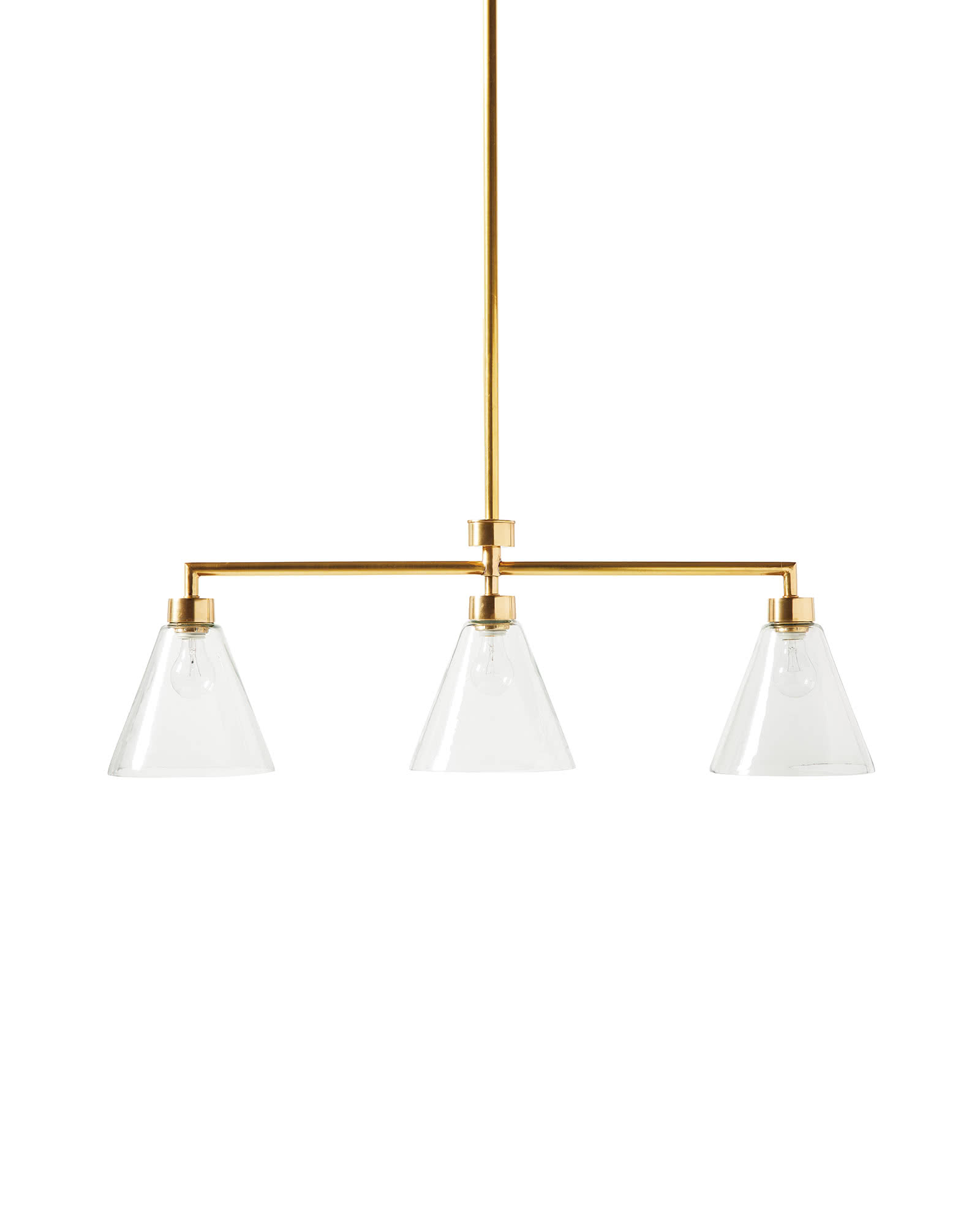Claremont Triple Bulb Pendant, Glass