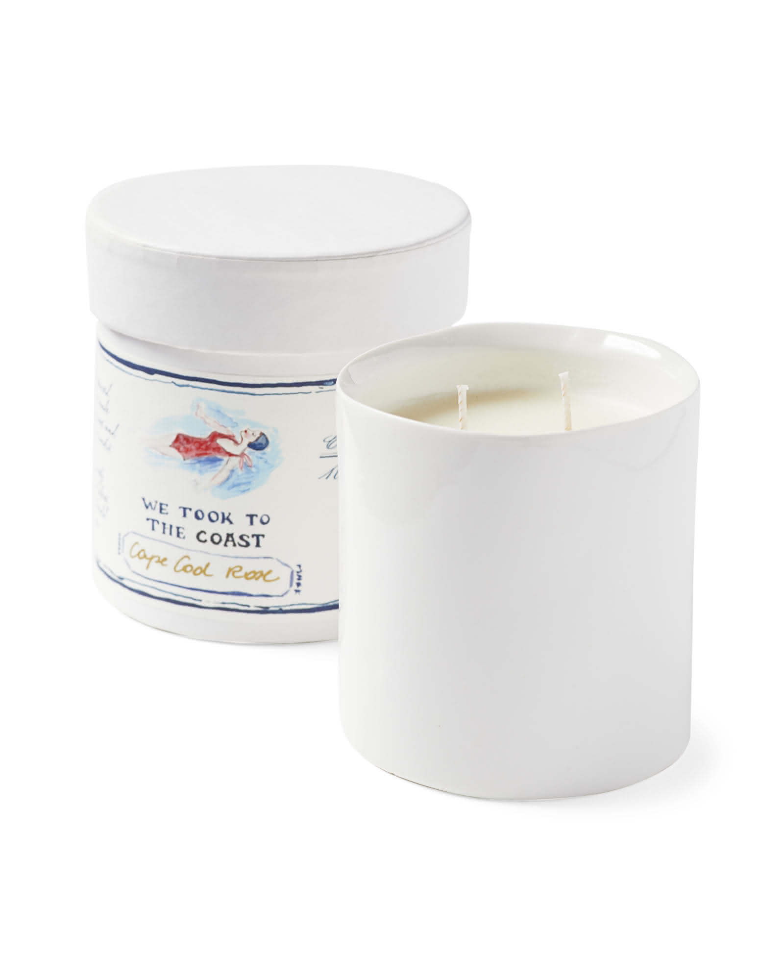Cape Cod Rose Candle,