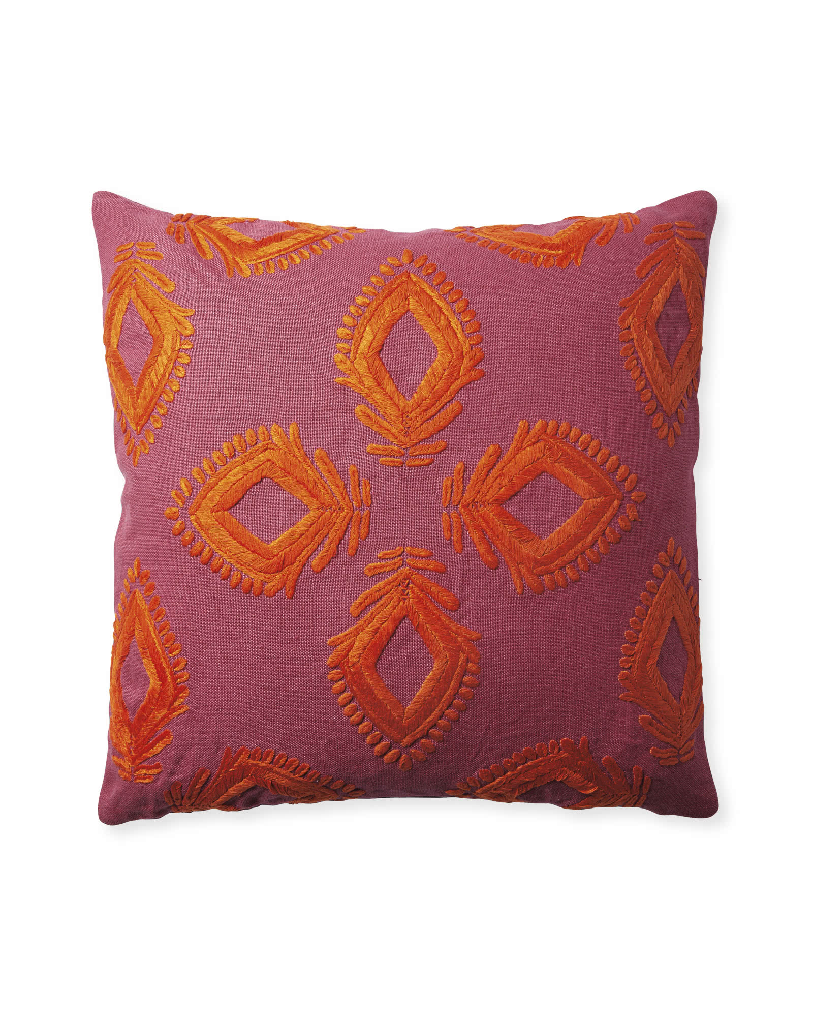 Leighton Pillow Cover - Fuchsia,