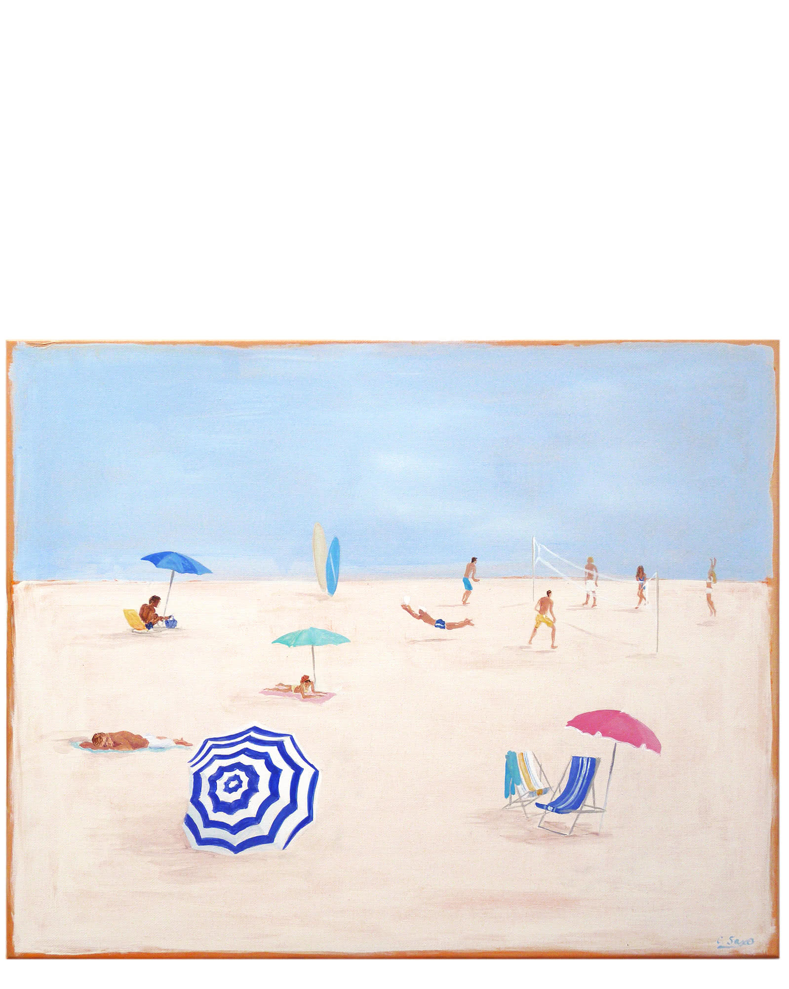 """Beach Scene"" by Carol Saxe,"