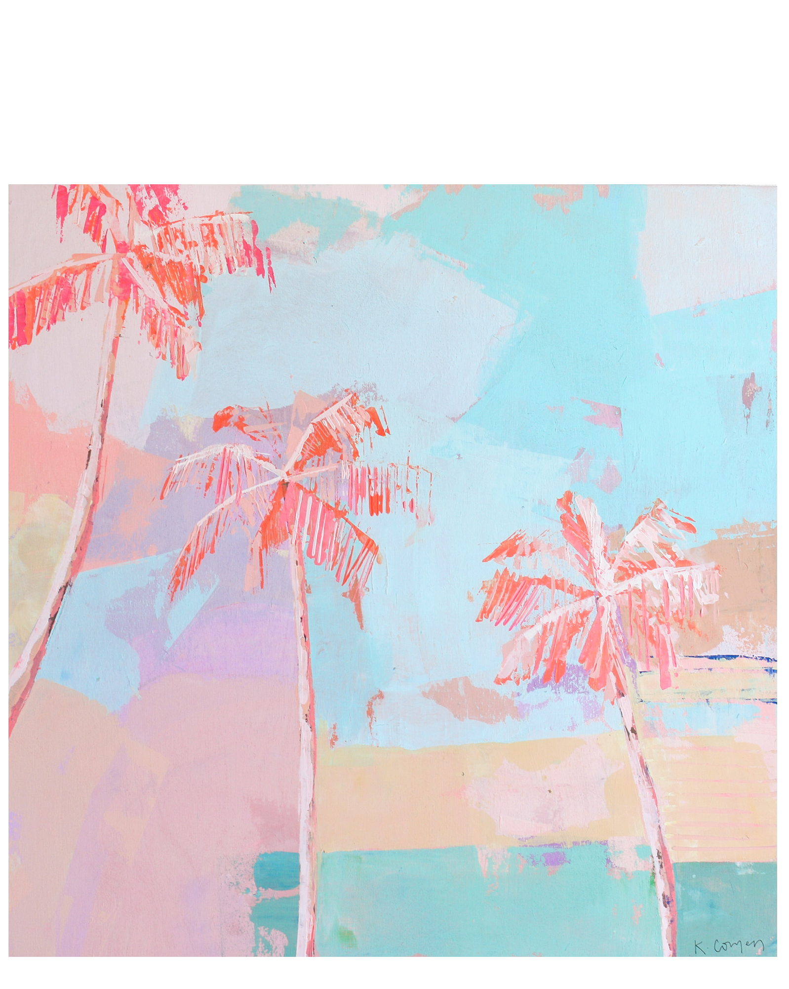 """""""Pink Palms"""" by Kate Comen,"""