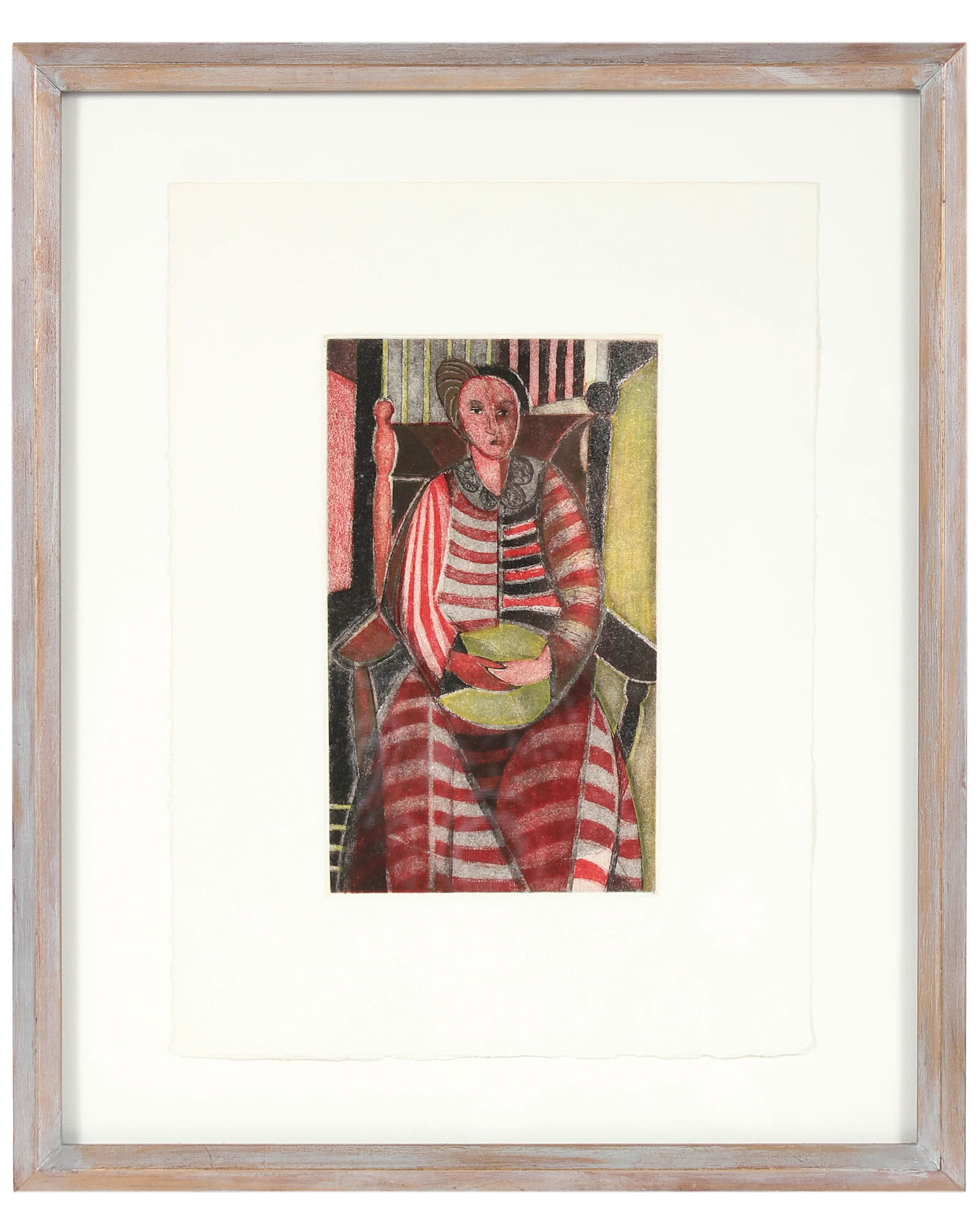 """""""Woman in Stripped Dress"""" by Seymour Tubis,"""