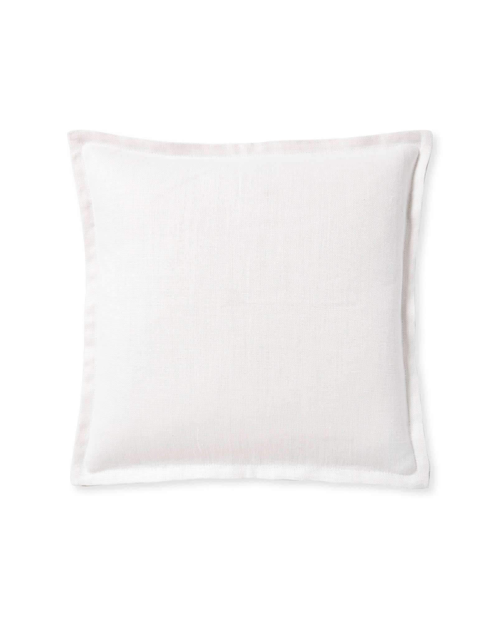 Two Tone Zip Pillow Cover, Bone/Platinum