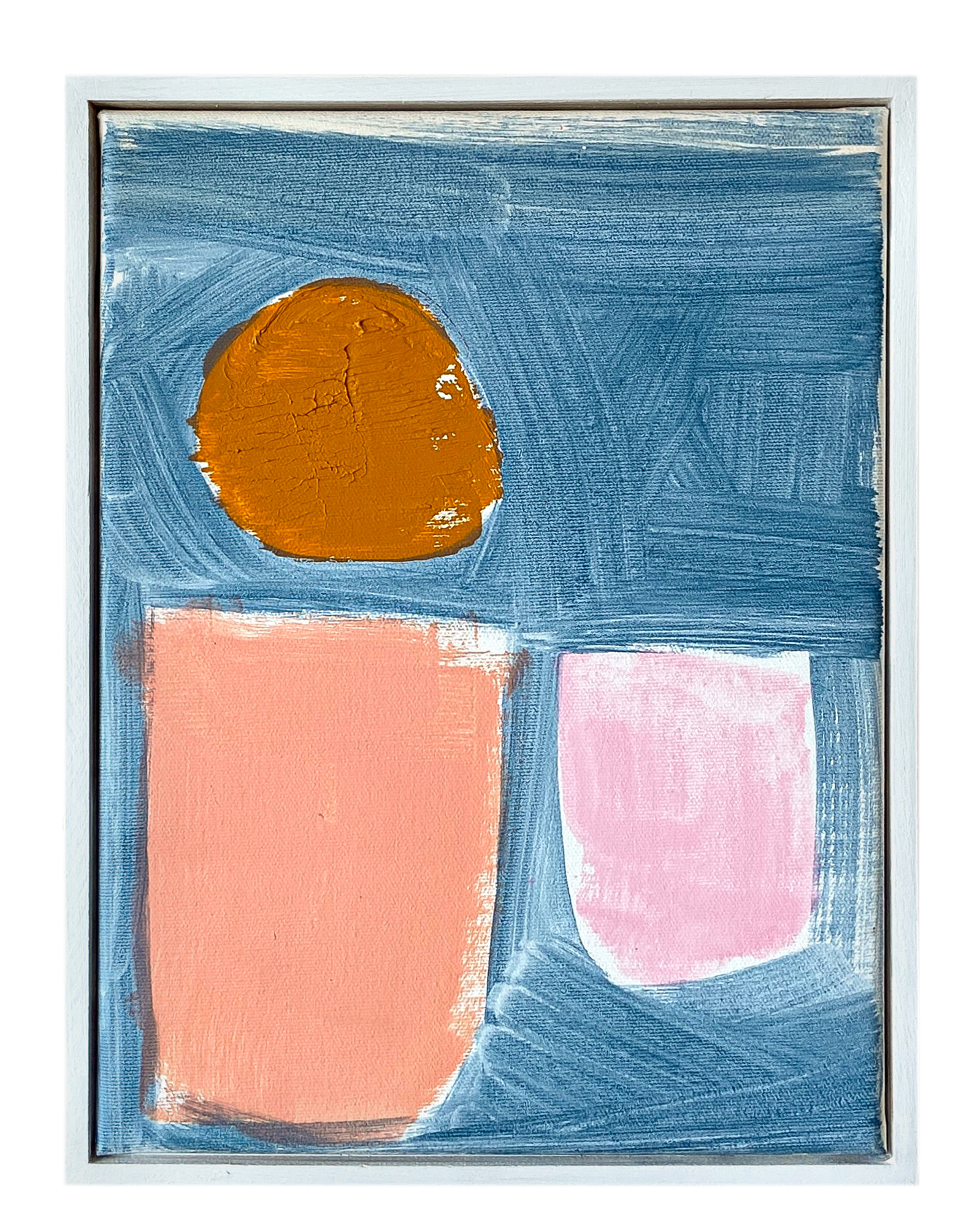 """""""Cerulean Study with Pinks and Ochre"""" by Laurie Fisher,"""