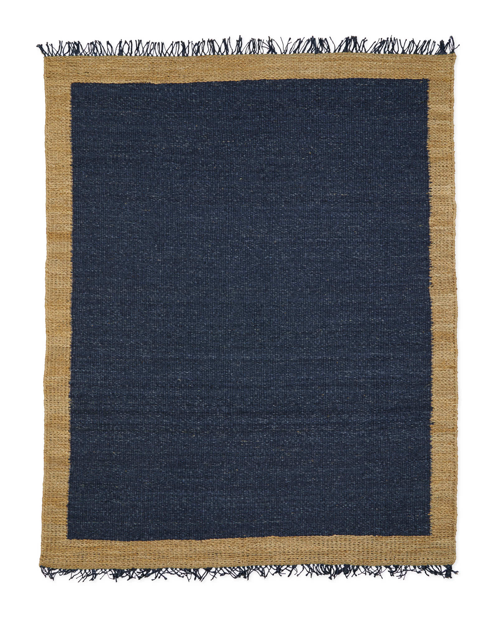 Jute Colorblock Rug, Navy