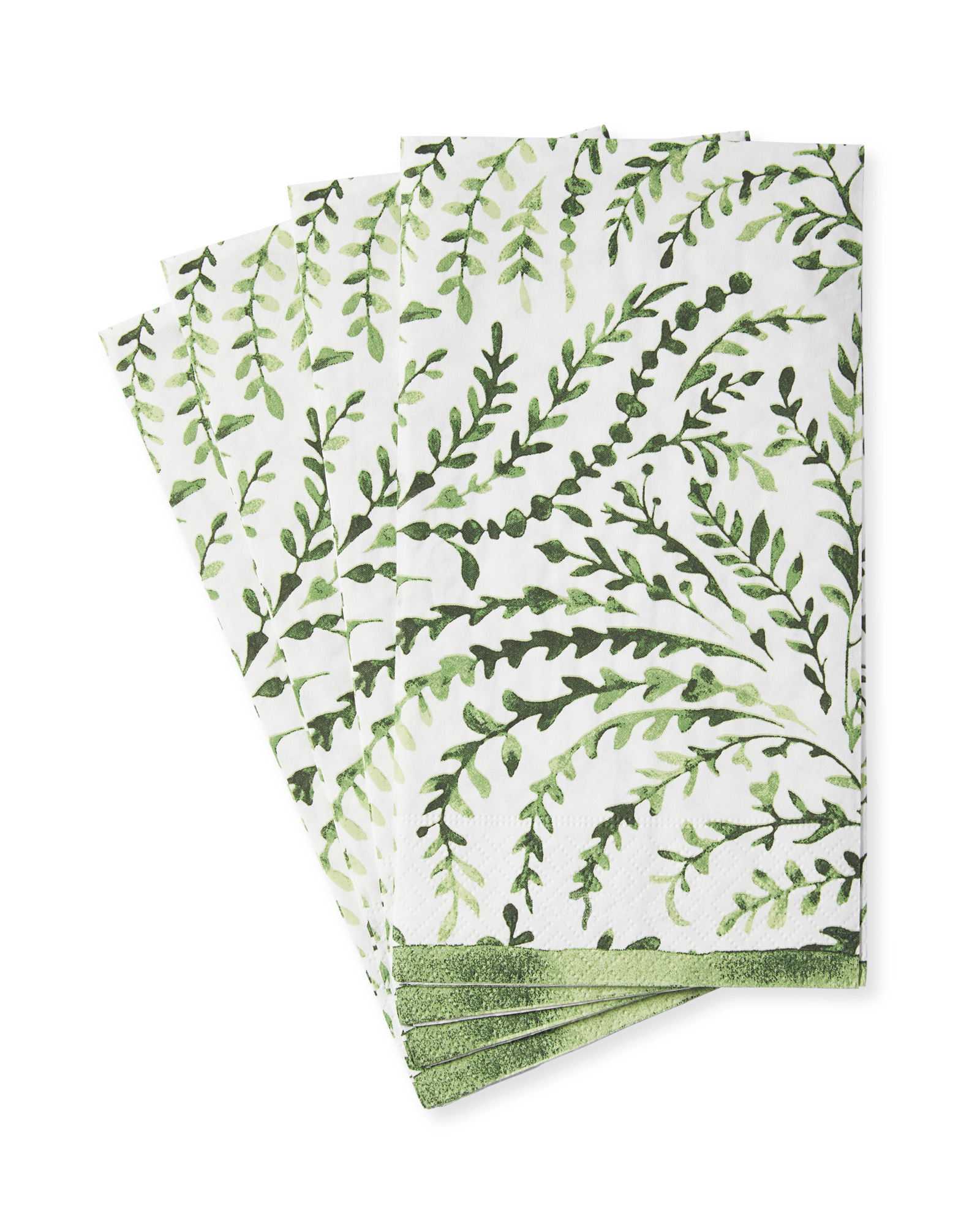 Priano Napkins - Guest (Set of 15), Green